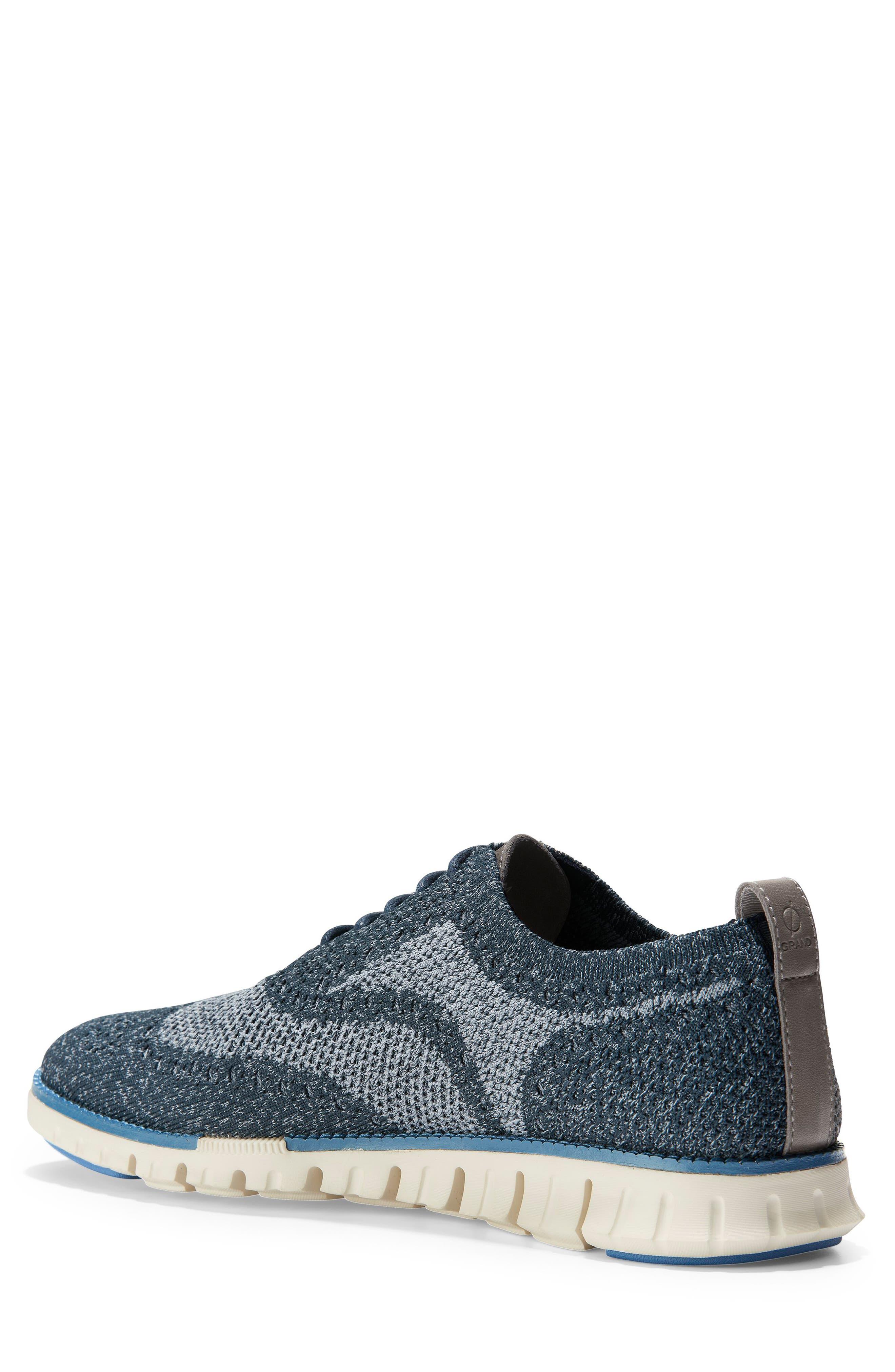 ZeroGrand Stitchlite Woven Wool Wingtip,                             Alternate thumbnail 2, color,                             BLUEBERRY KNIT