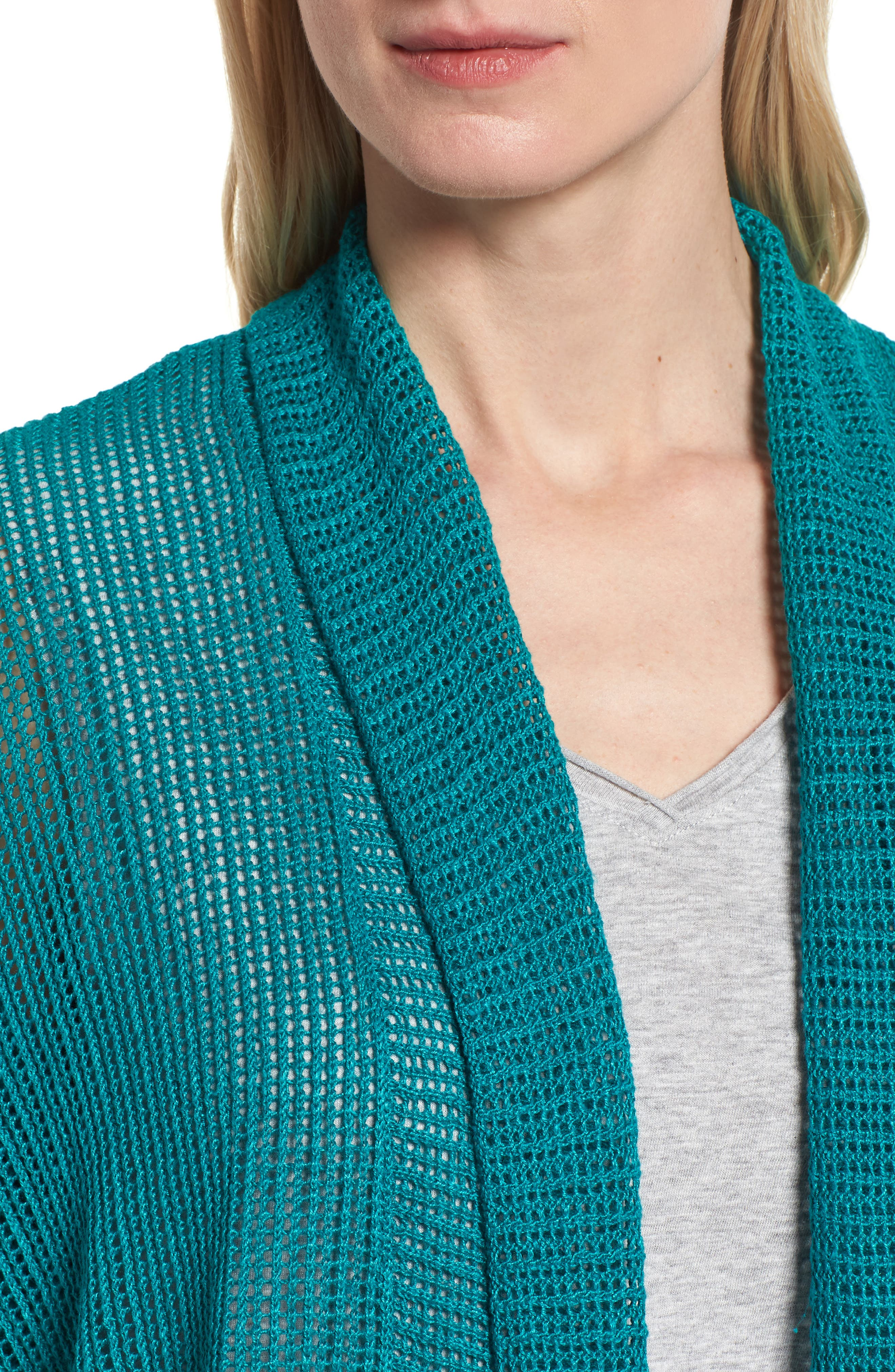 Boxy Organic Linen Cardigan,                             Alternate thumbnail 20, color,