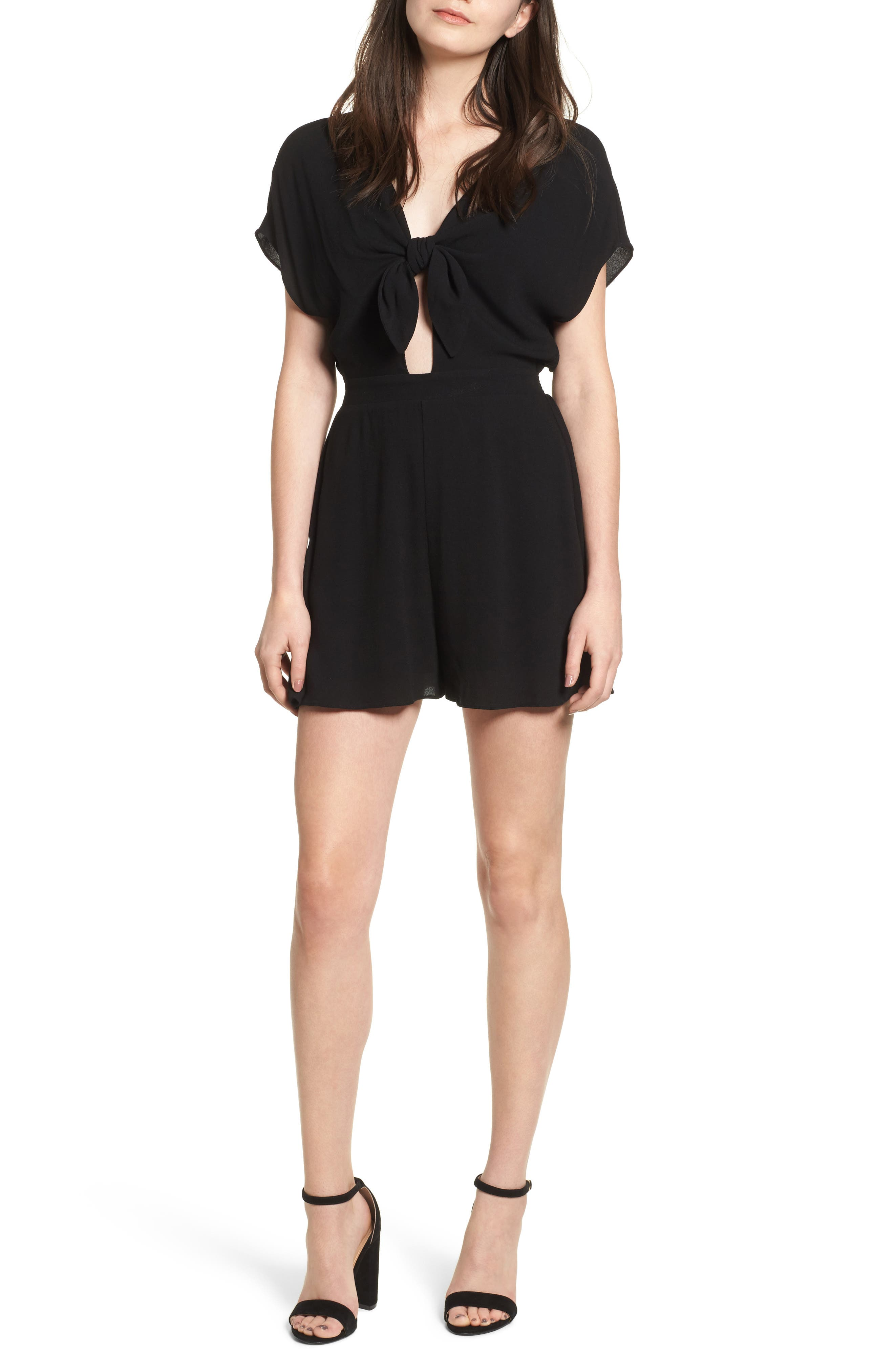 Knotted Romper,                             Main thumbnail 2, color,