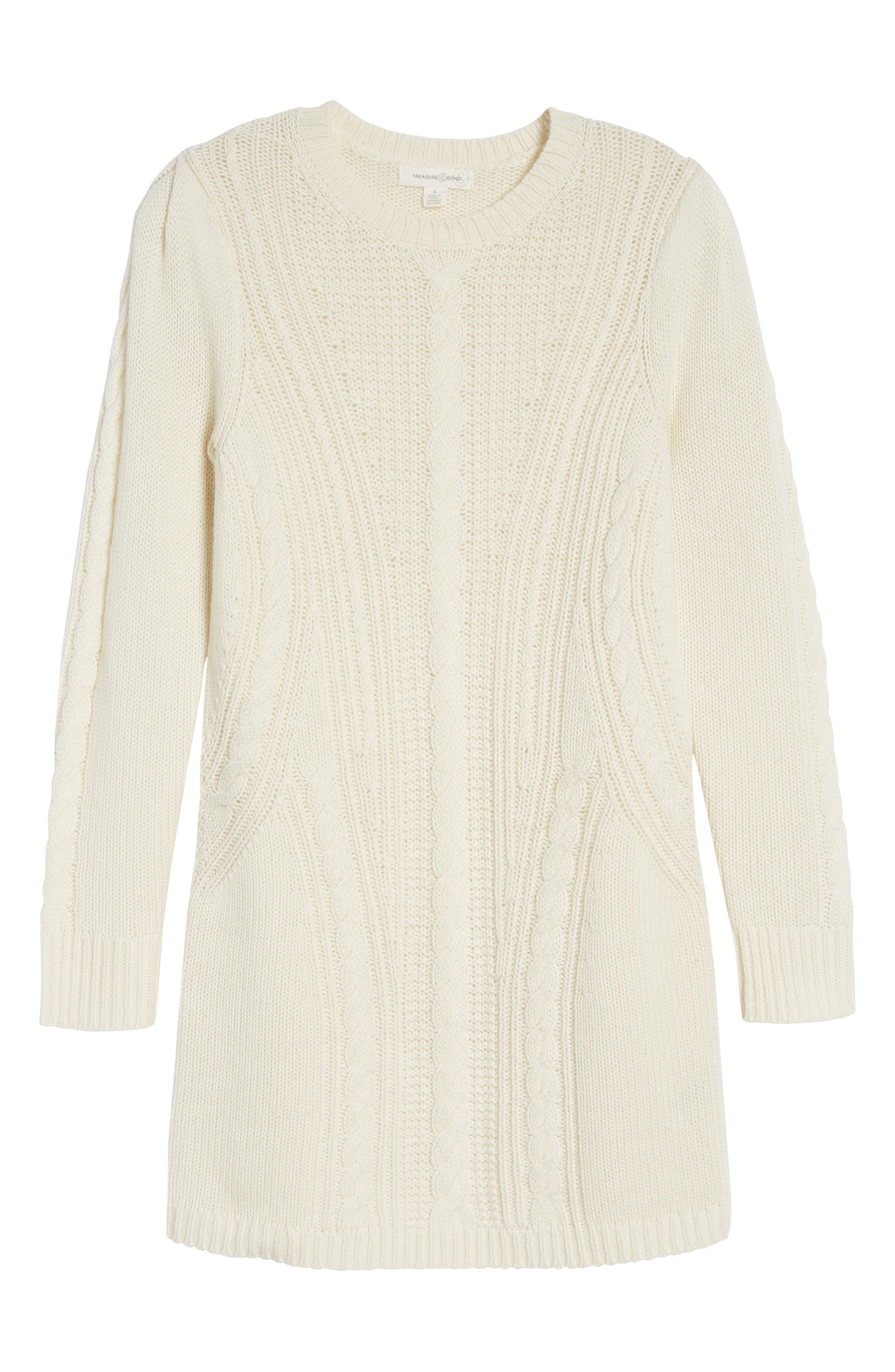 x Something Navy Sweater Dress,                             Alternate thumbnail 6, color,                             101