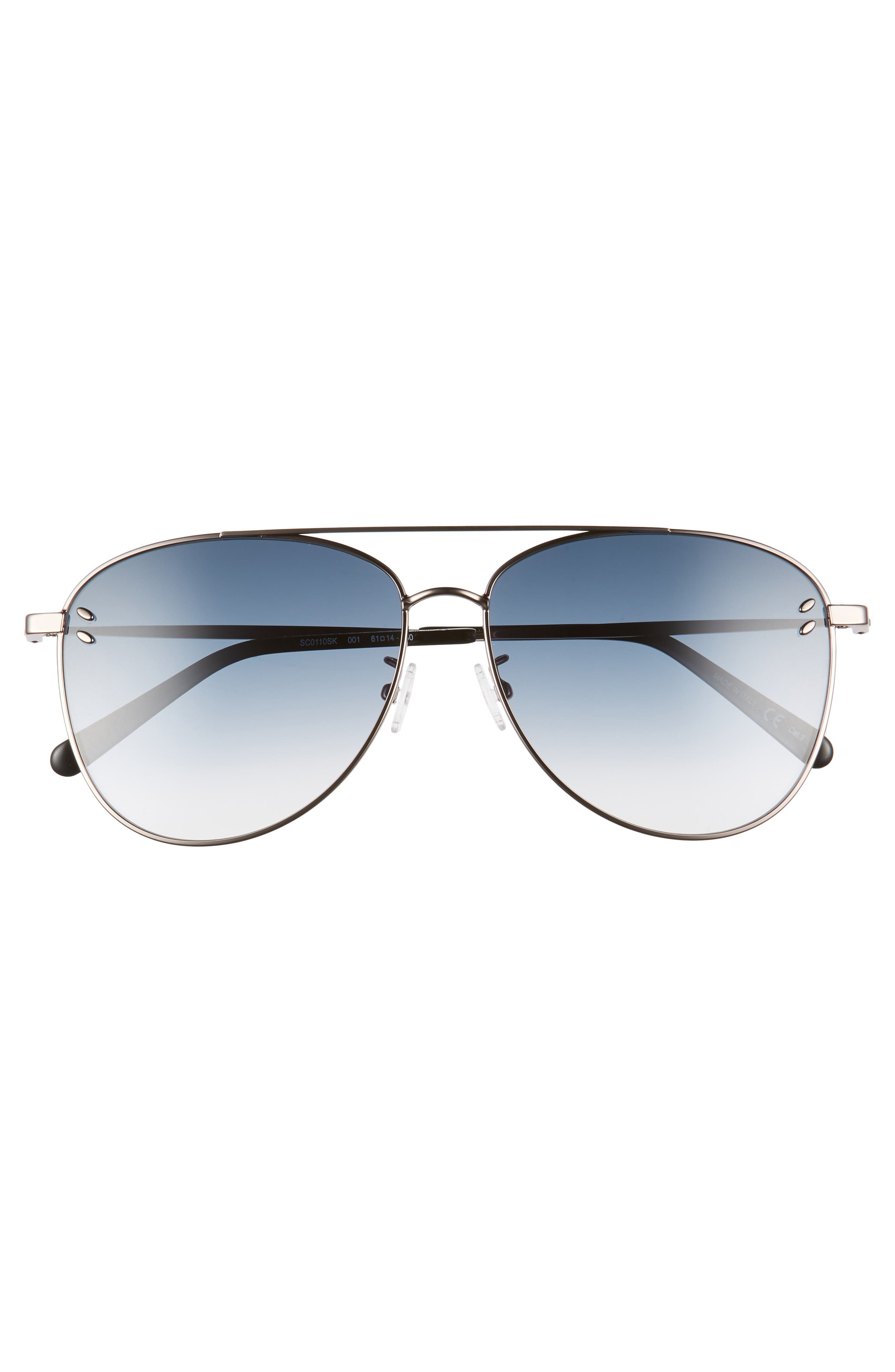 61mm Aviator Sunglasses,                             Alternate thumbnail 3, color,                             041