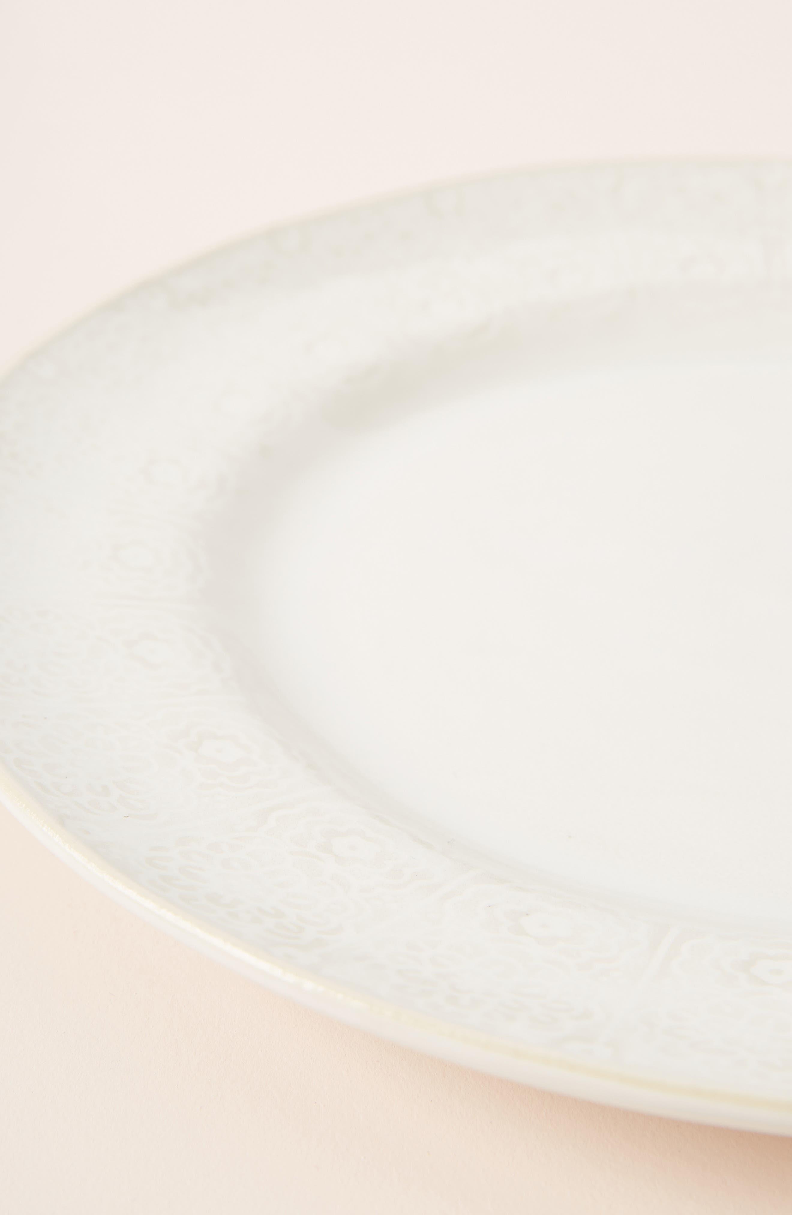 ANTHROPOLOGIE,                             Veru Dinner Plate,                             Alternate thumbnail 3, color,                             WHITE