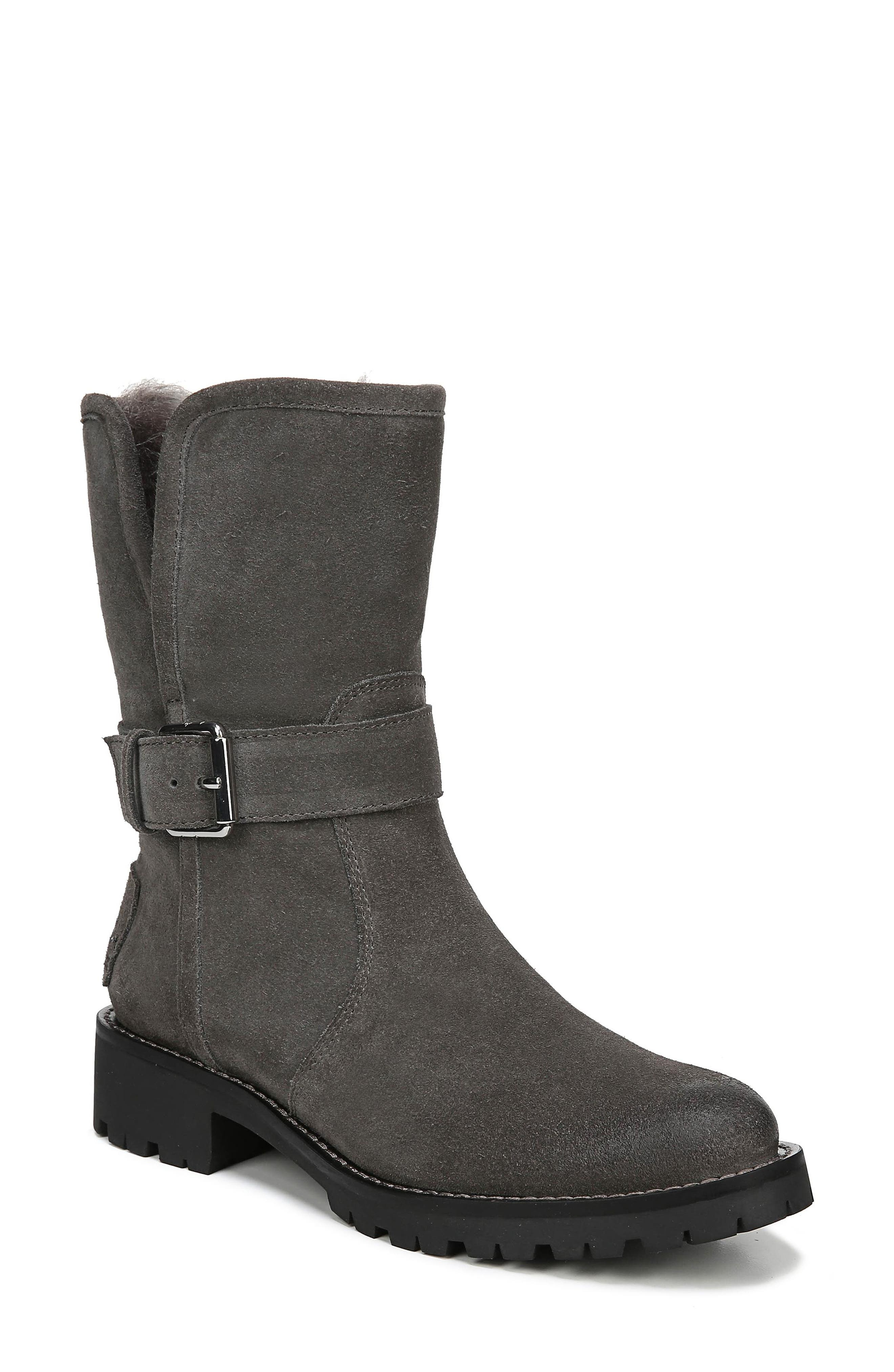 Jeanie Boot,                             Main thumbnail 1, color,                             STEEL GREY SUEDE