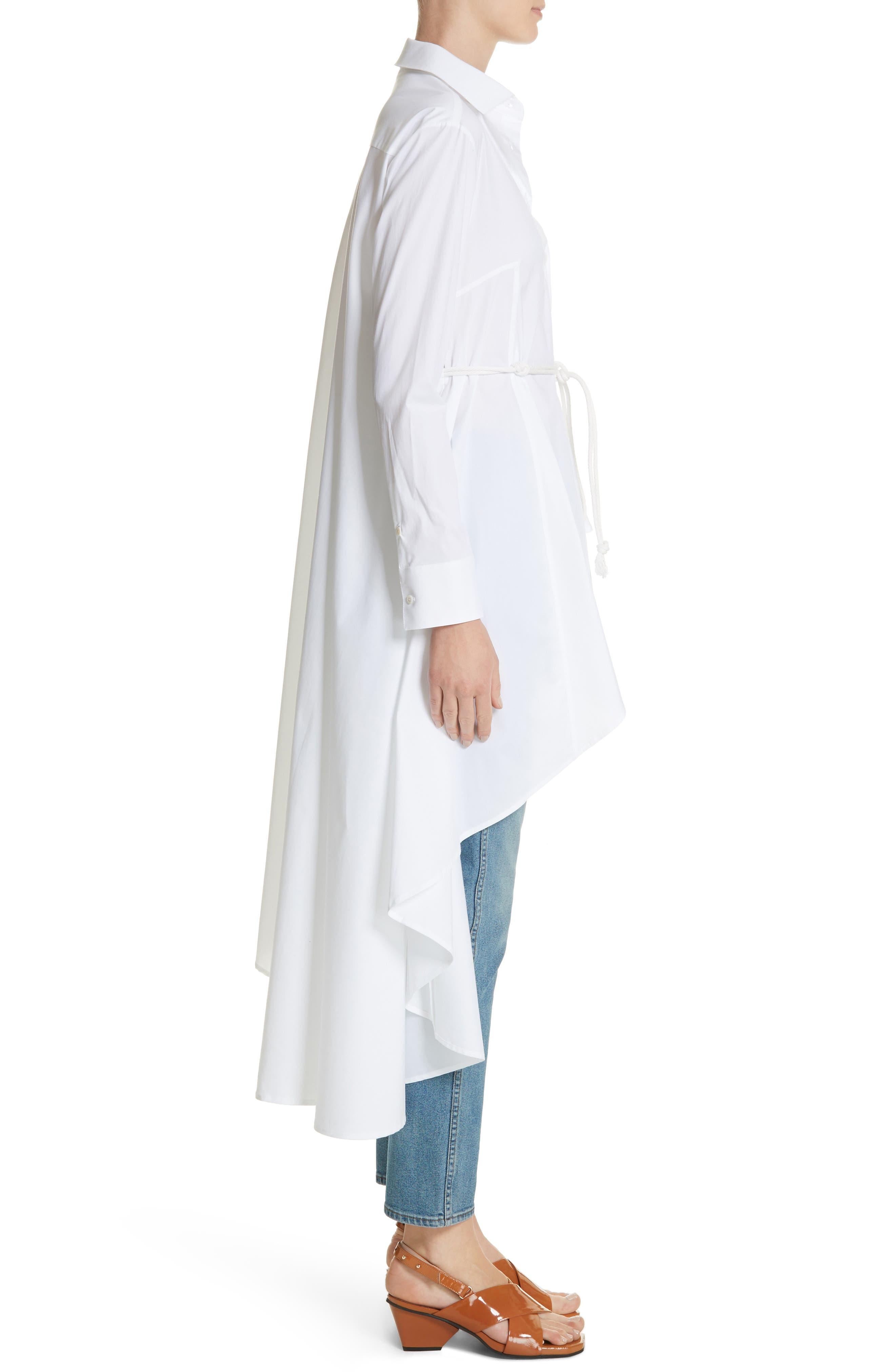 Long Super Shirt,                             Alternate thumbnail 3, color,                             WHITE