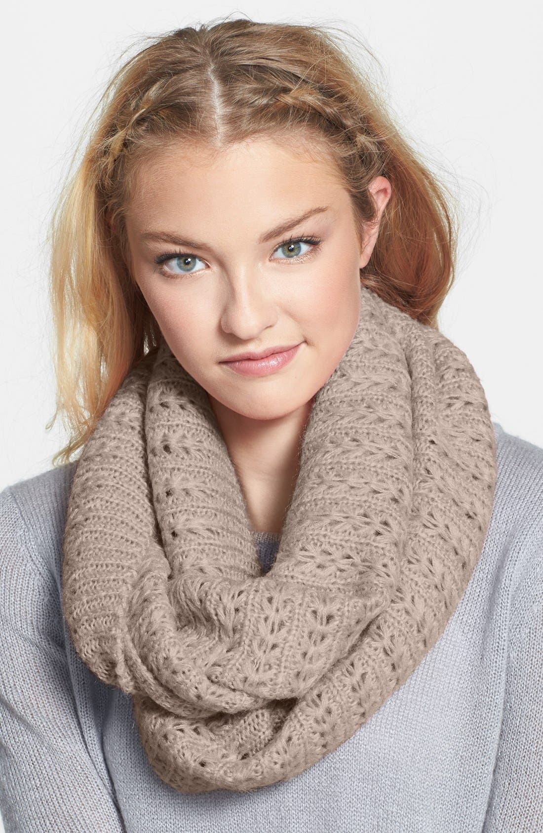 Chevron Pointelle Infinity Scarf,                         Main,                         color, 250