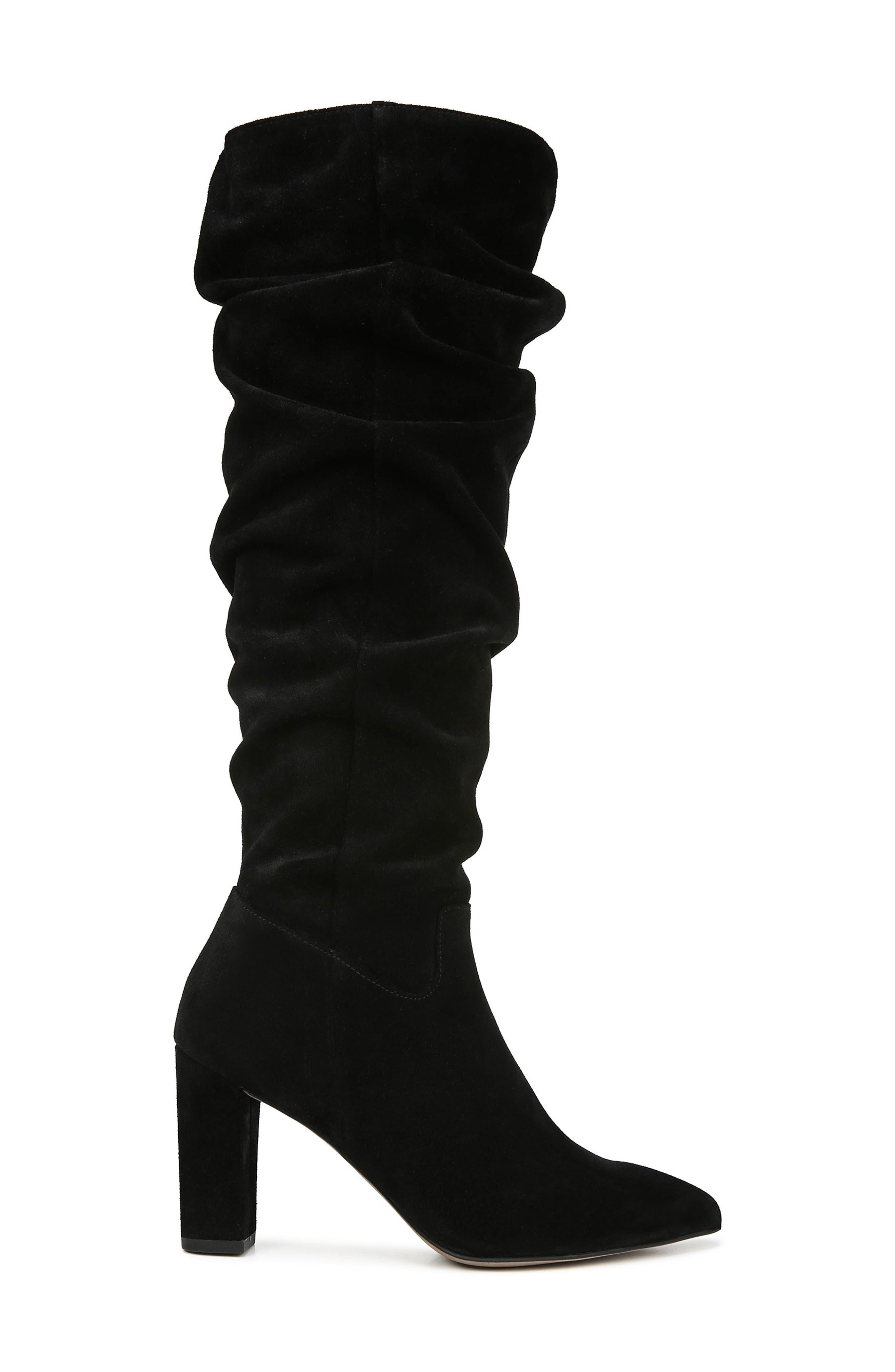 Artesia Knee High Boot,                             Alternate thumbnail 3, color,                             BLACK SUEDE