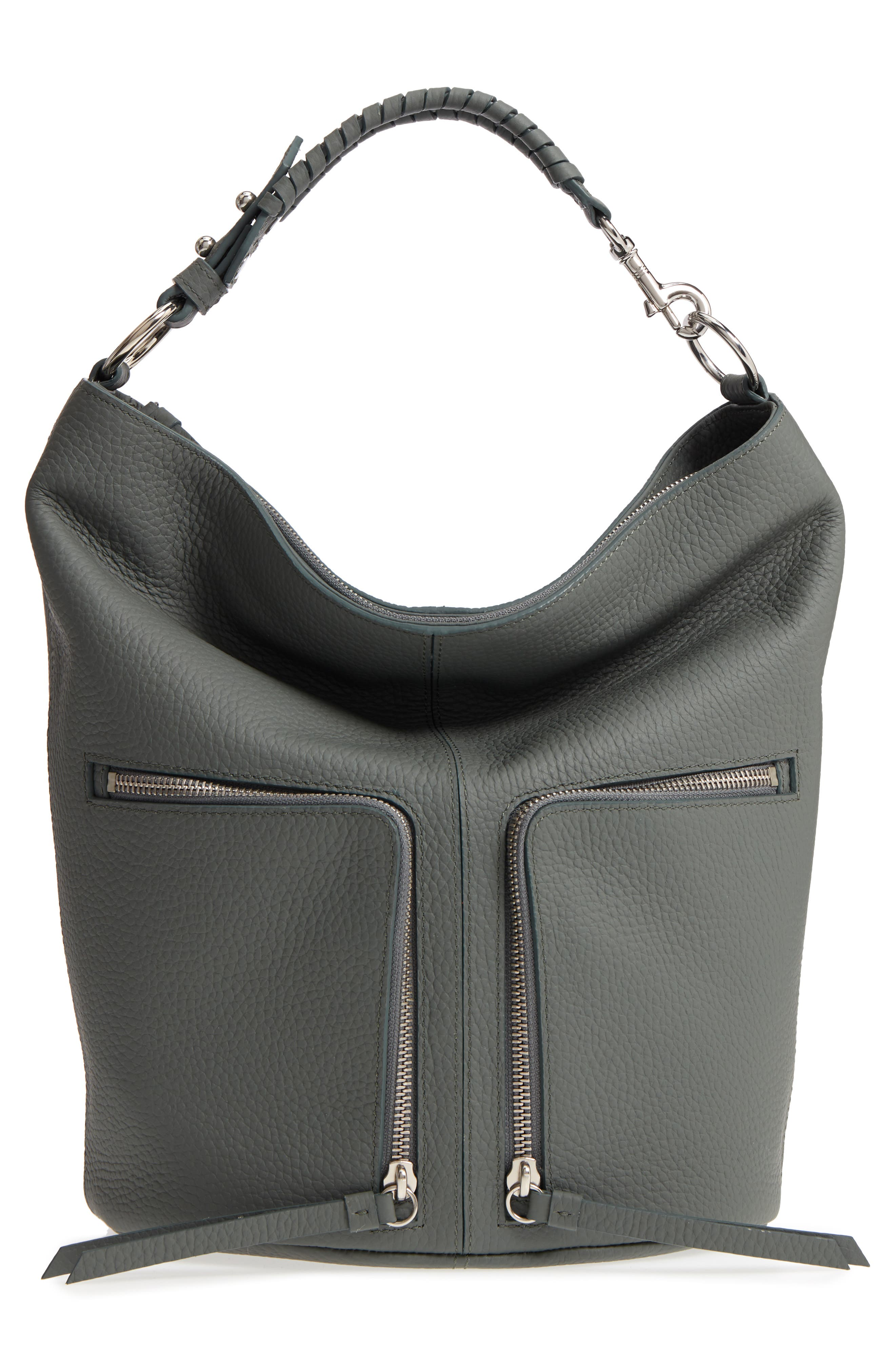 Small Fetch Leather Backpack,                             Alternate thumbnail 3, color,                             LIGHT SLATE BLUE