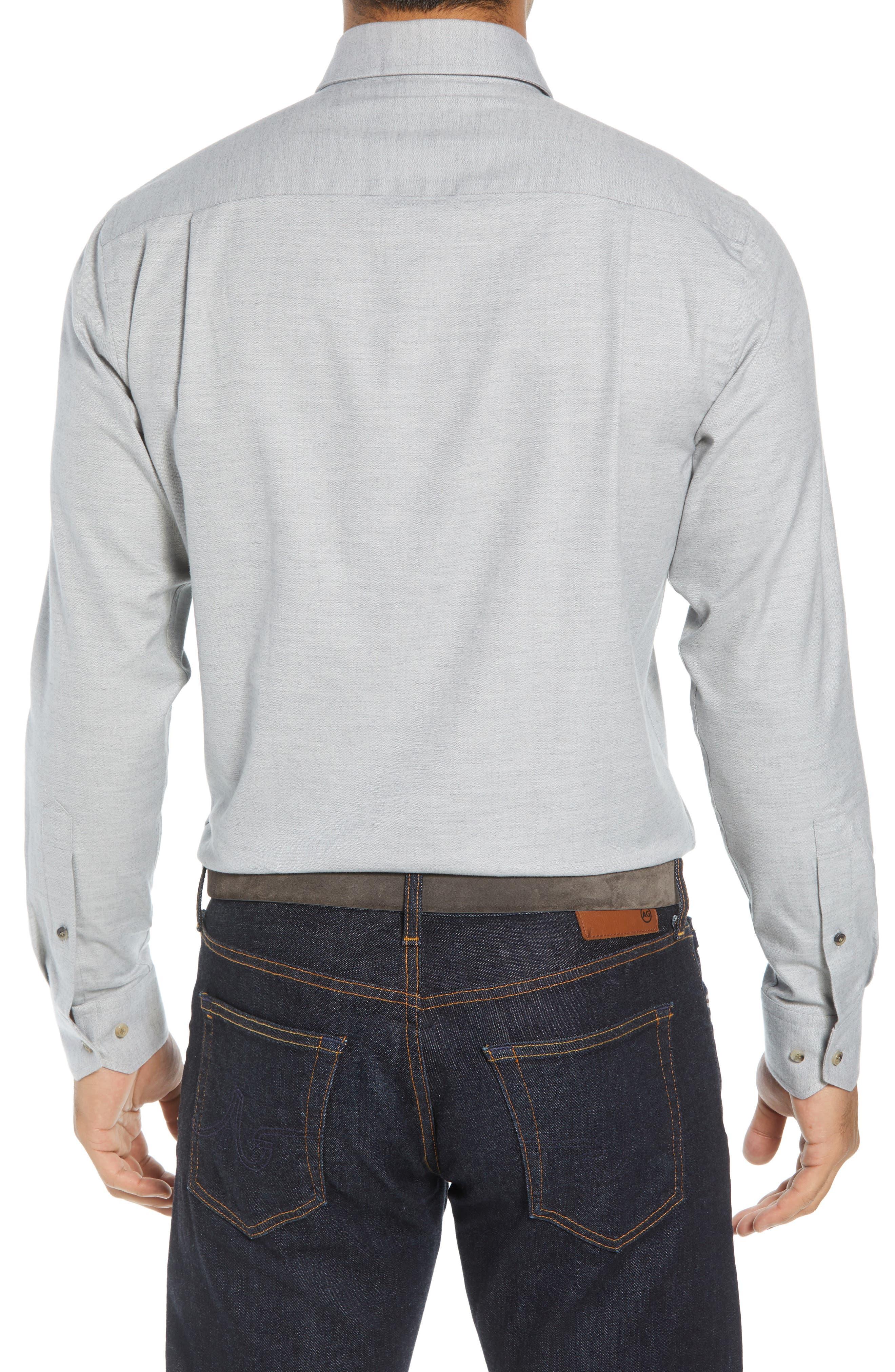 Hamra Regular Fit Sport Shirt,                             Alternate thumbnail 3, color,                             PLATINUM