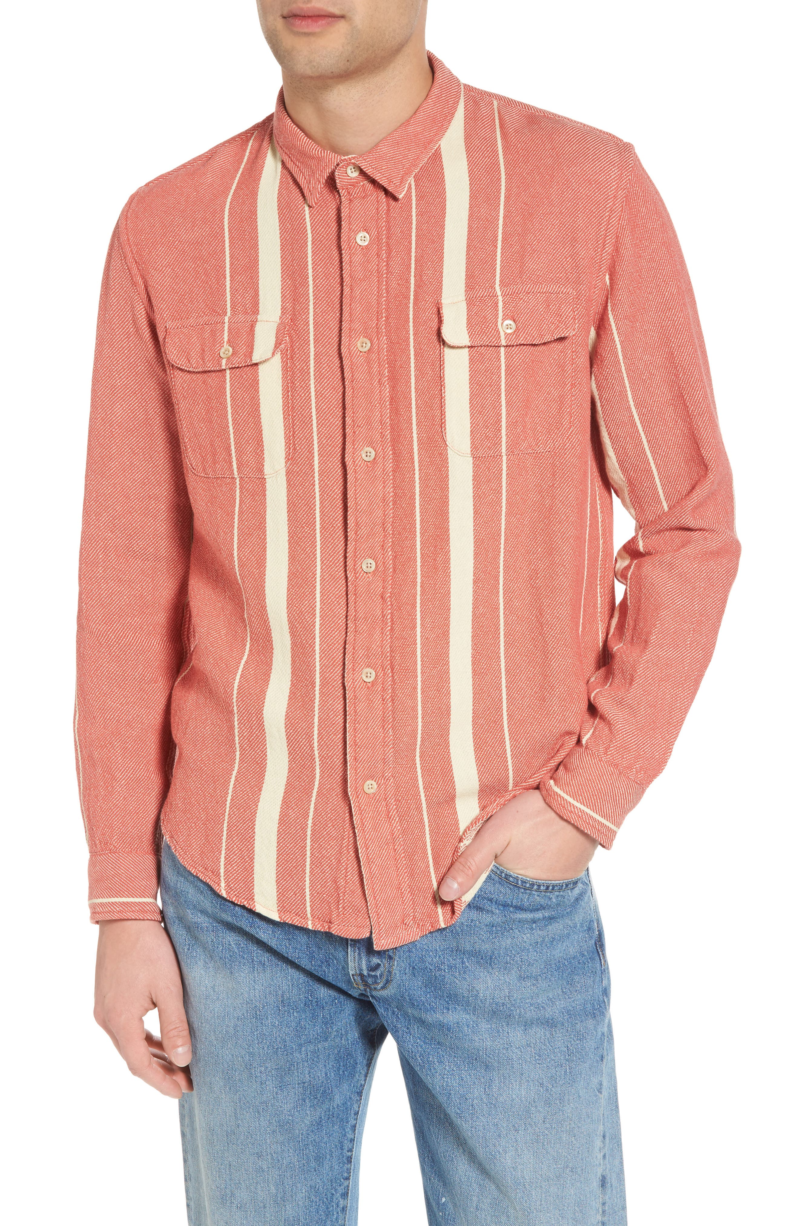 Shorthorn Plaid Woven Shirt,                             Main thumbnail 1, color,                             600