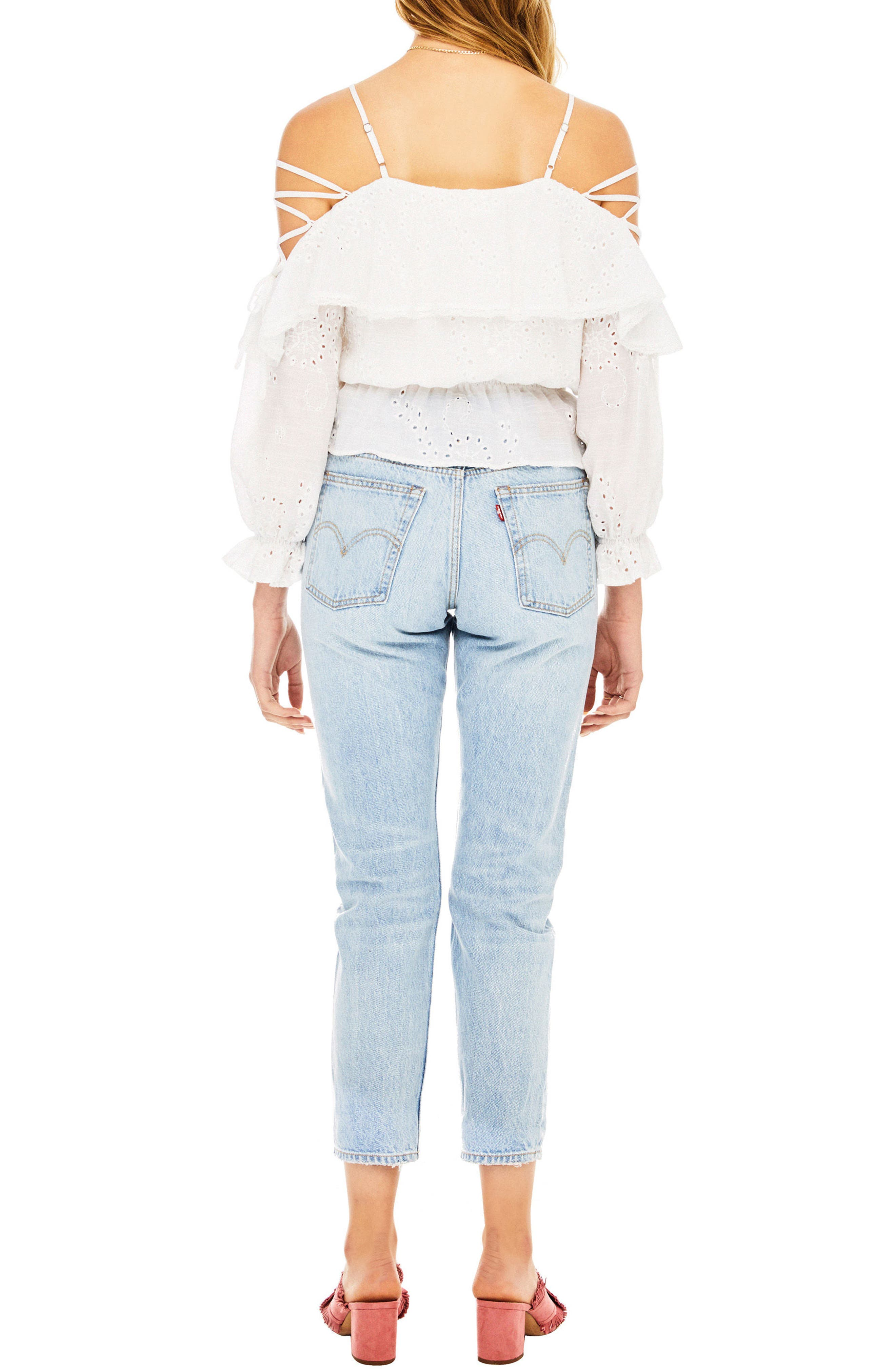 Kennedy Off the Shoulder Top,                             Alternate thumbnail 2, color,                             100