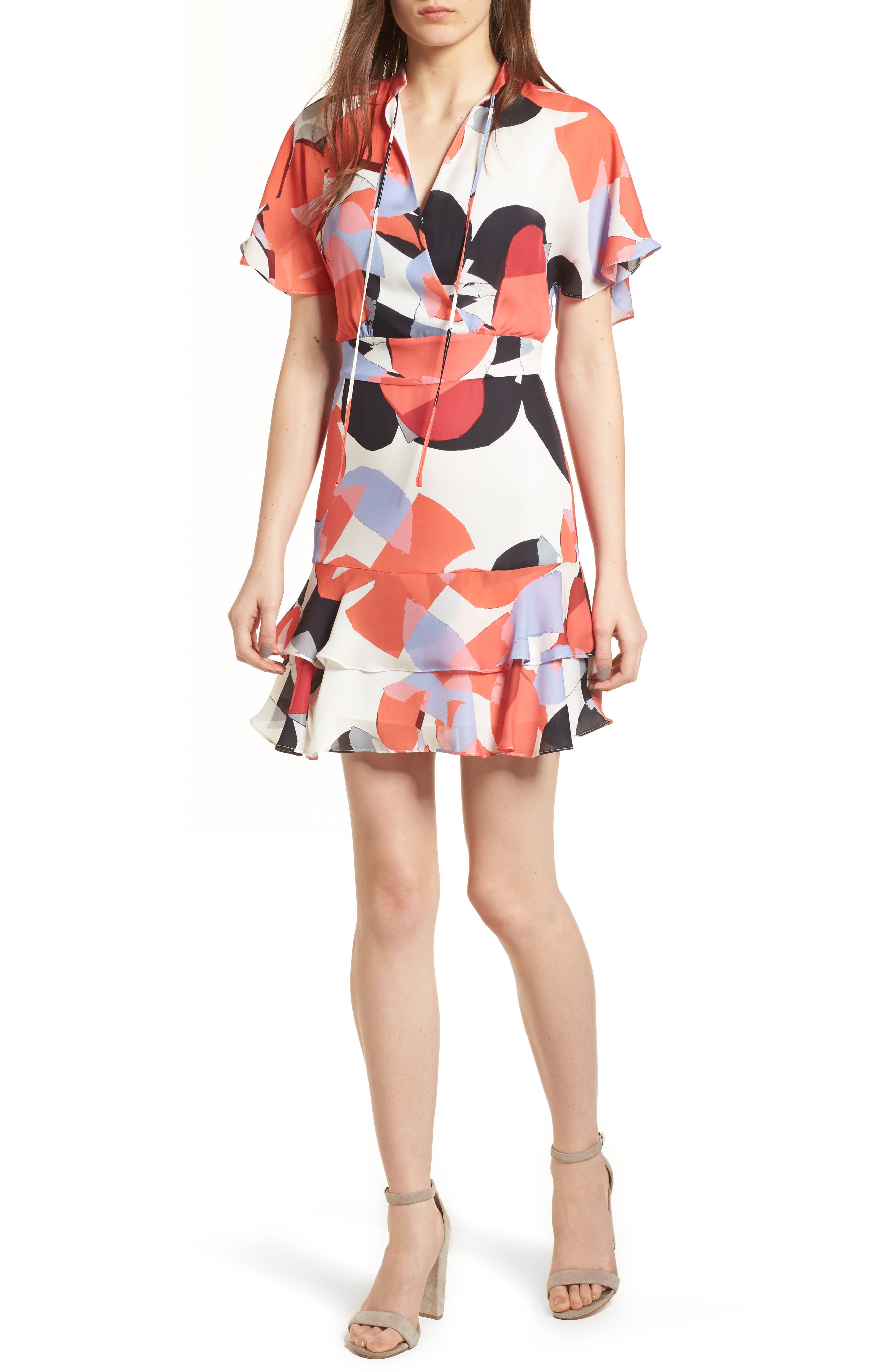 Natalie Silk Dress,                             Main thumbnail 1, color,