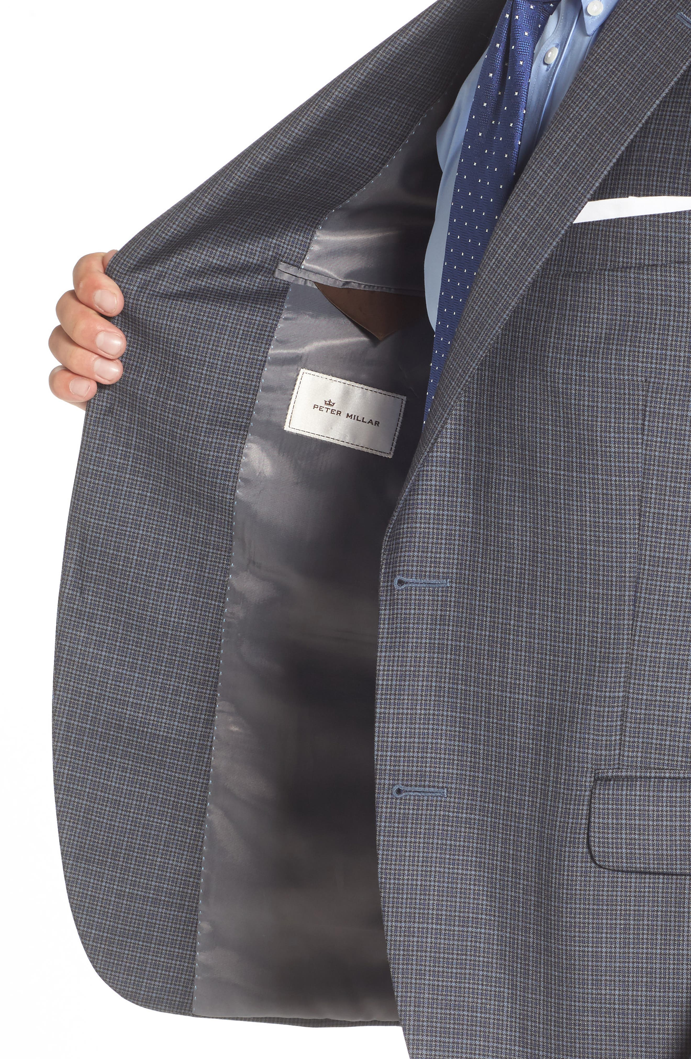 Flynn Classic Fit Check Wool Sport Coat,                             Alternate thumbnail 4, color,                             400