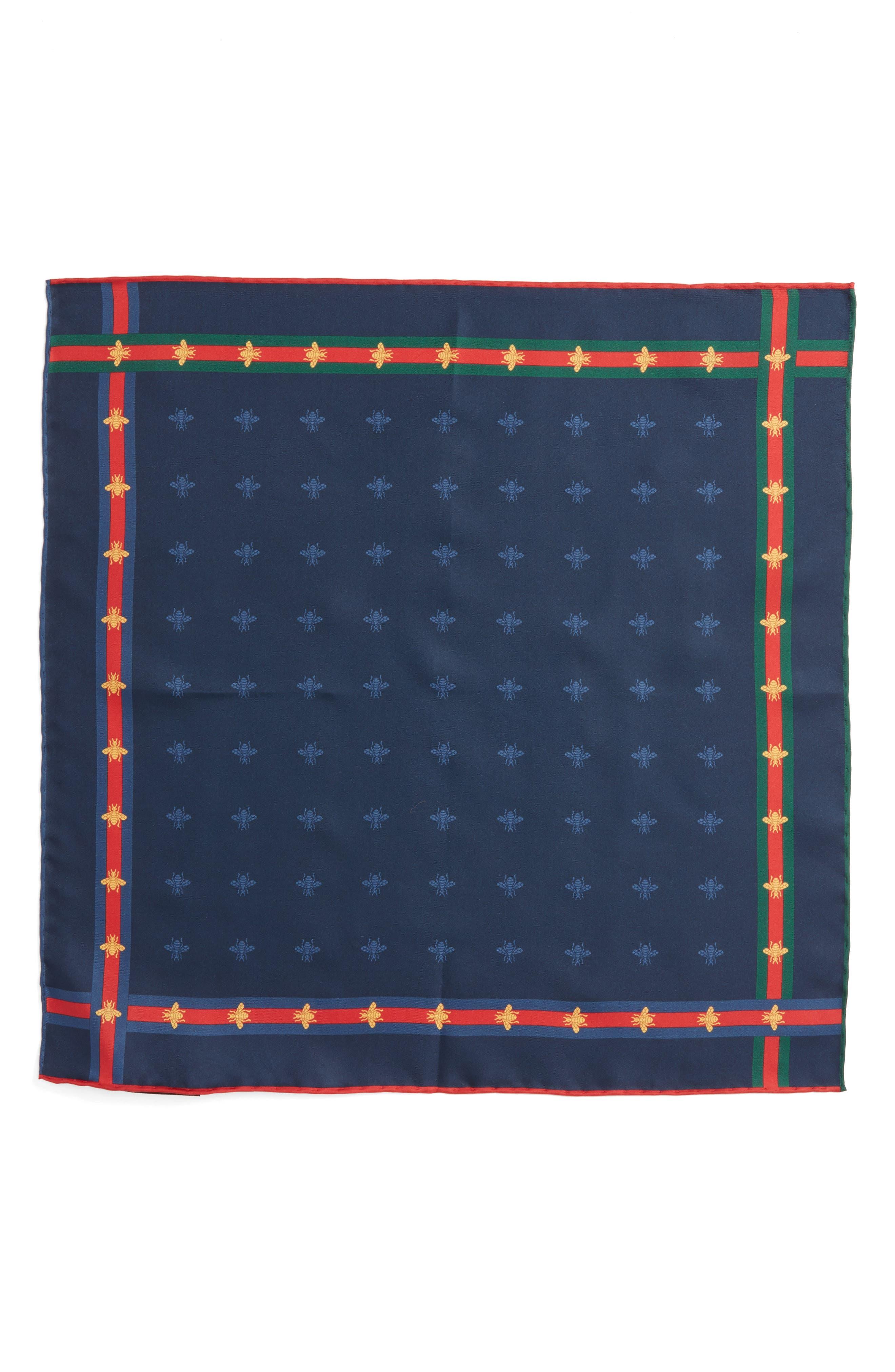 Runebis Silk Twill Pocket Square,                             Alternate thumbnail 11, color,