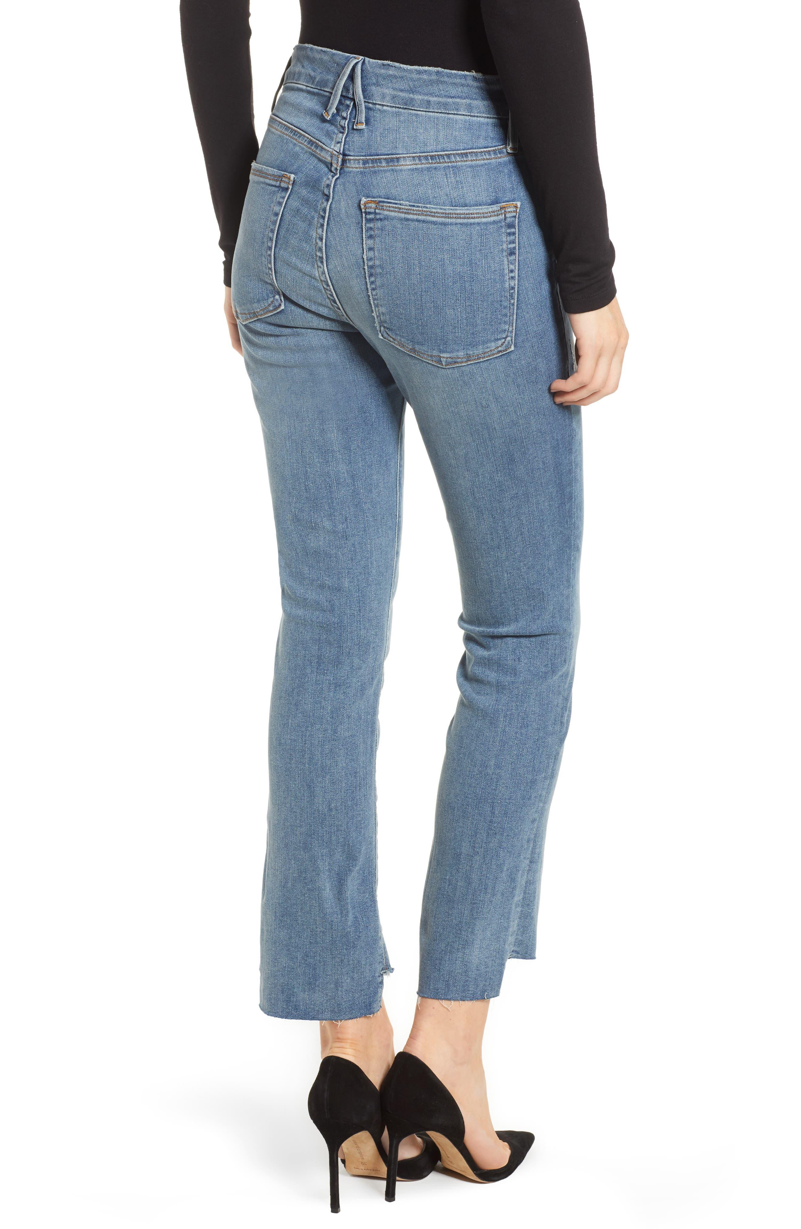 Good Straight Raw Hem Straight Leg Jeans,                             Alternate thumbnail 2, color,                             401
