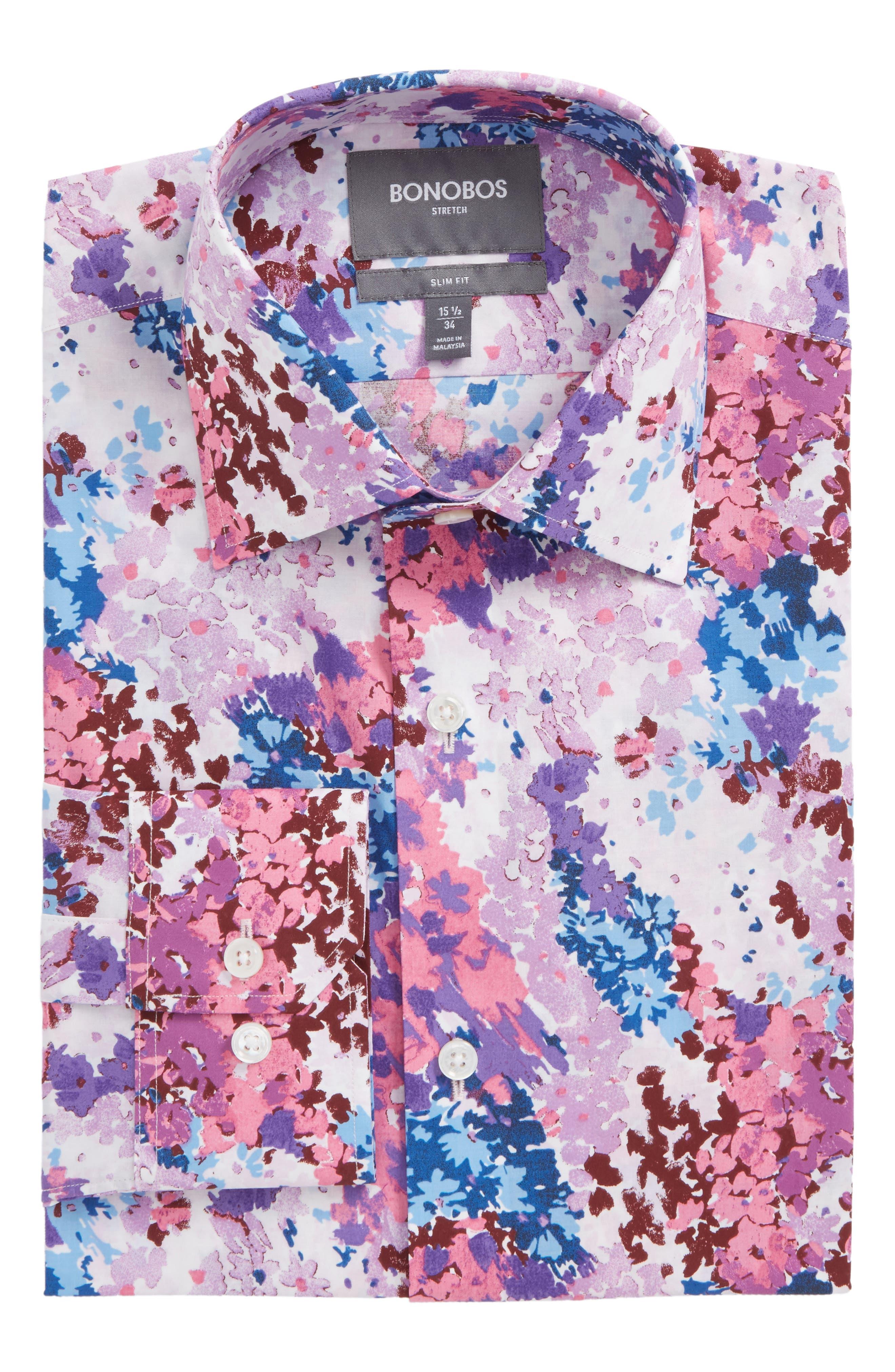 Jetsetter Slim Fit Floral Dress Shirt,                         Main,                         color, 650