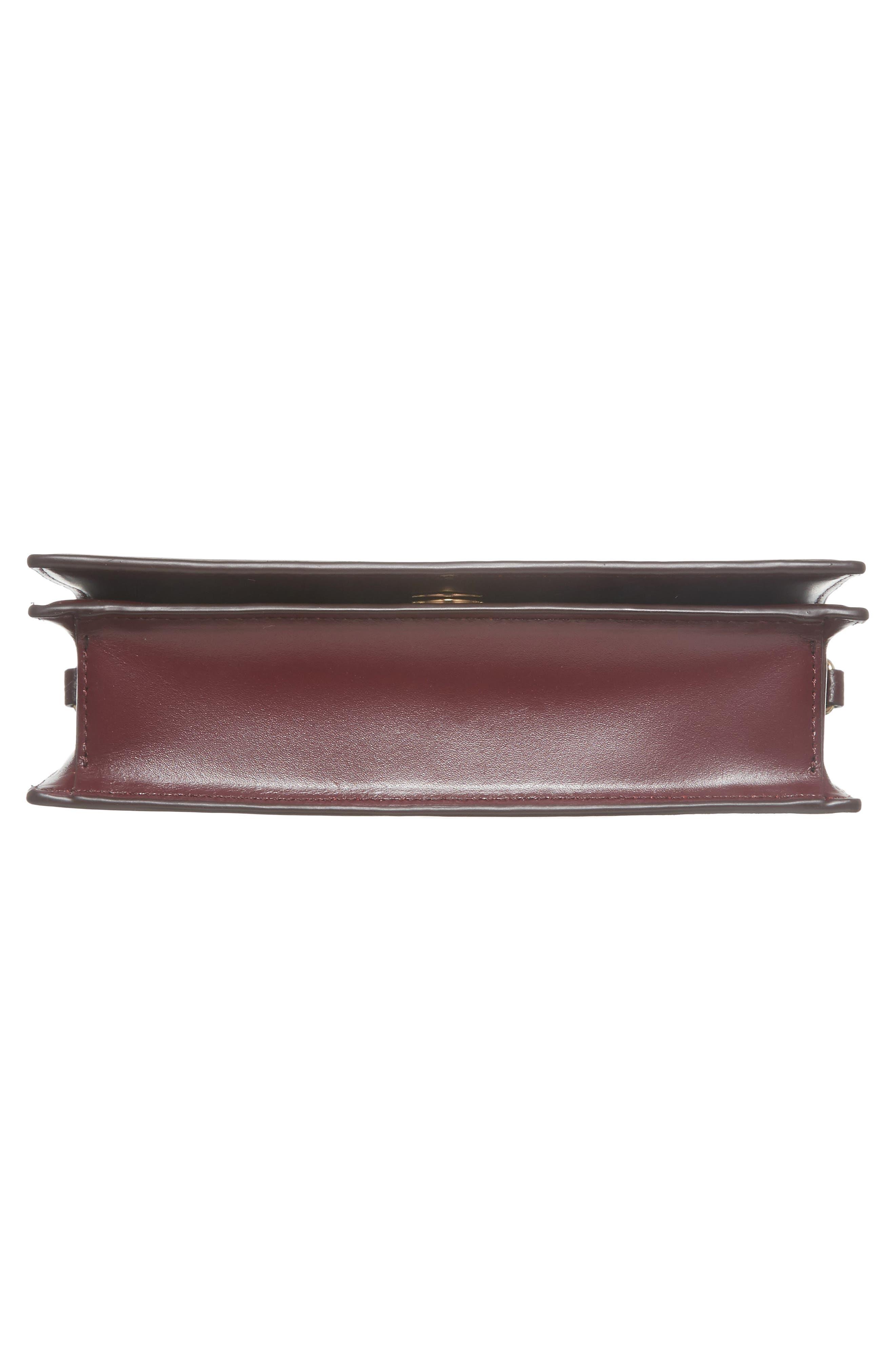 Soirée Leather Convertible Crossbody Bag,                             Alternate thumbnail 21, color,