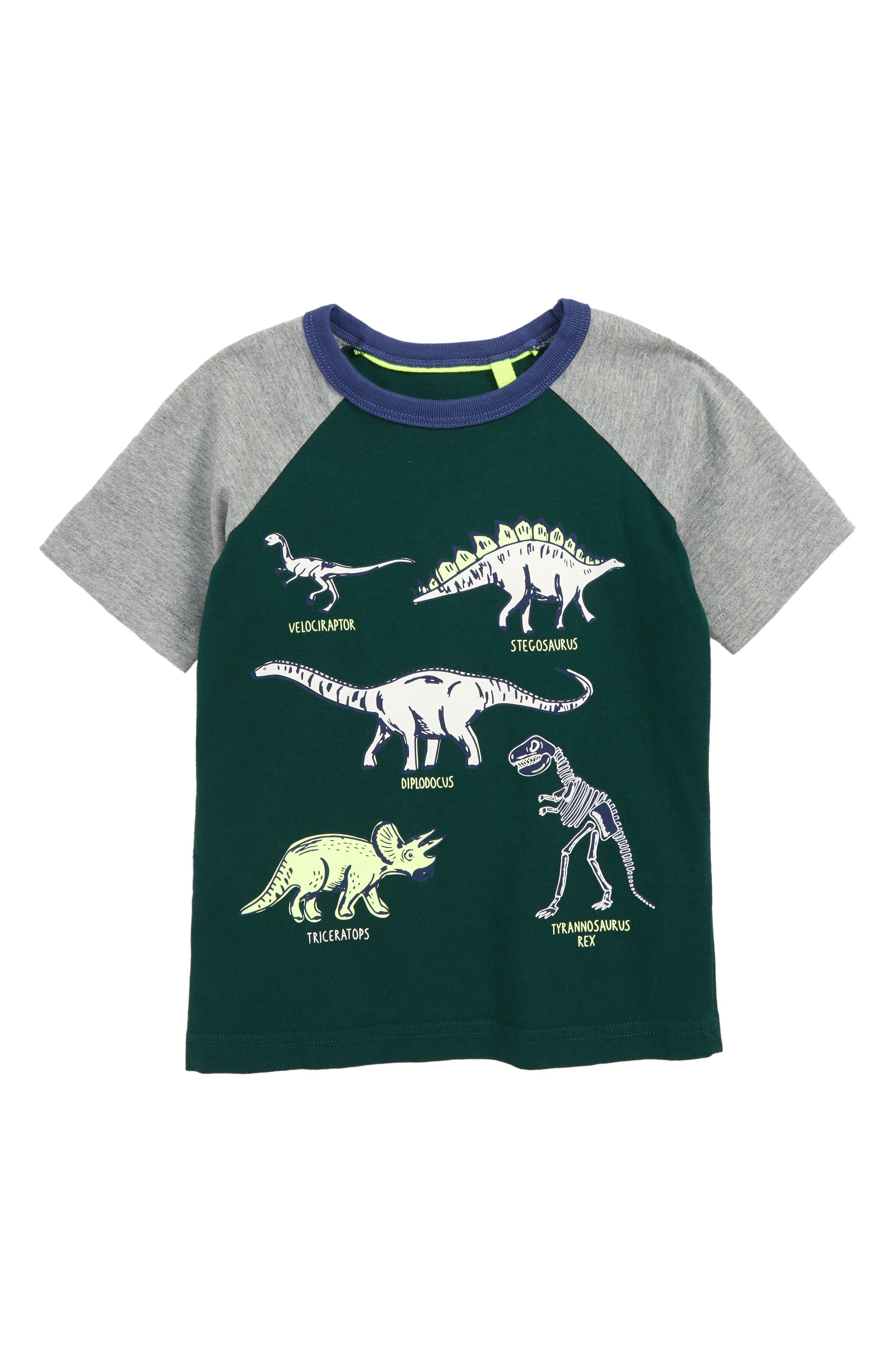 Animal Raglan Shirt,                             Main thumbnail 1, color,                             SCOTTS PINE GREEN