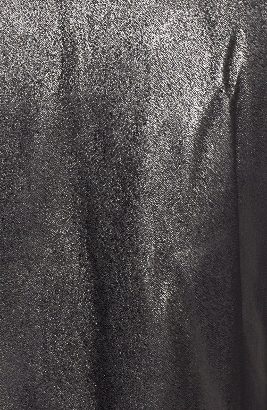 Lambskin Leather Car Coat,                             Alternate thumbnail 3, color,                             001