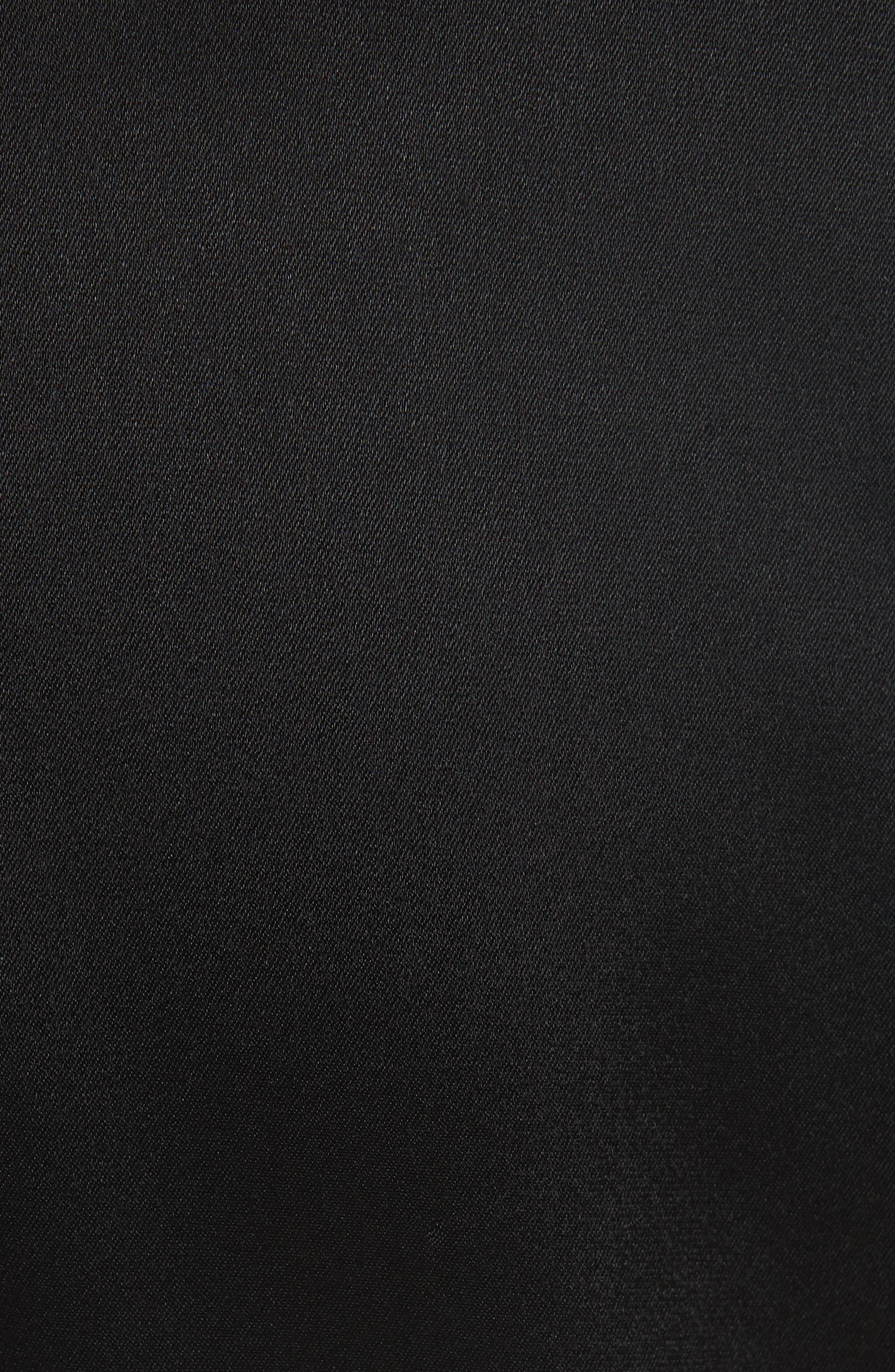 Faux Wrap Minidress,                             Alternate thumbnail 5, color,                             BLACK