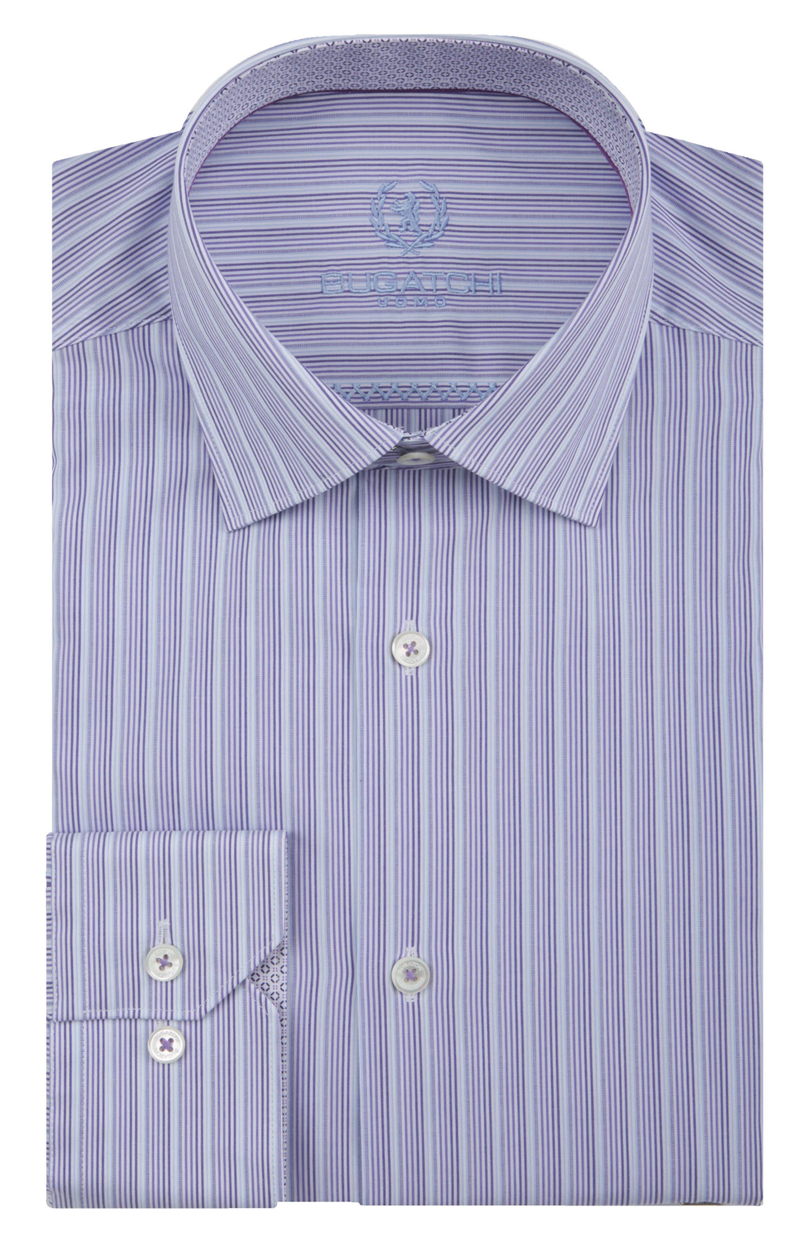 Trim Fit Stripe Dress Shirt,                         Main,                         color, 511