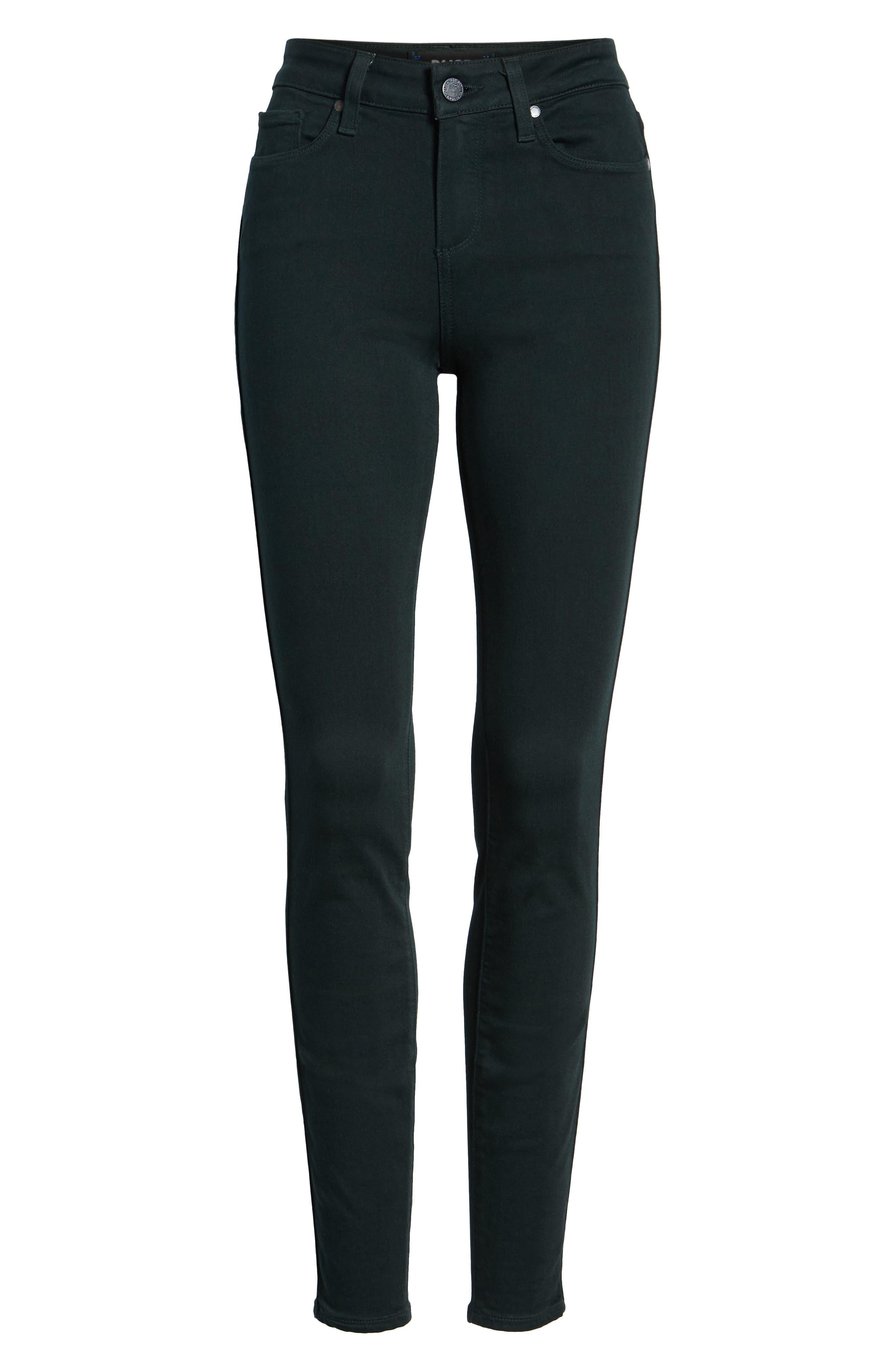 Transcend - Verdugo Ultra Skinny Jeans,                             Alternate thumbnail 7, color,                             MIDNIGHT GREEN