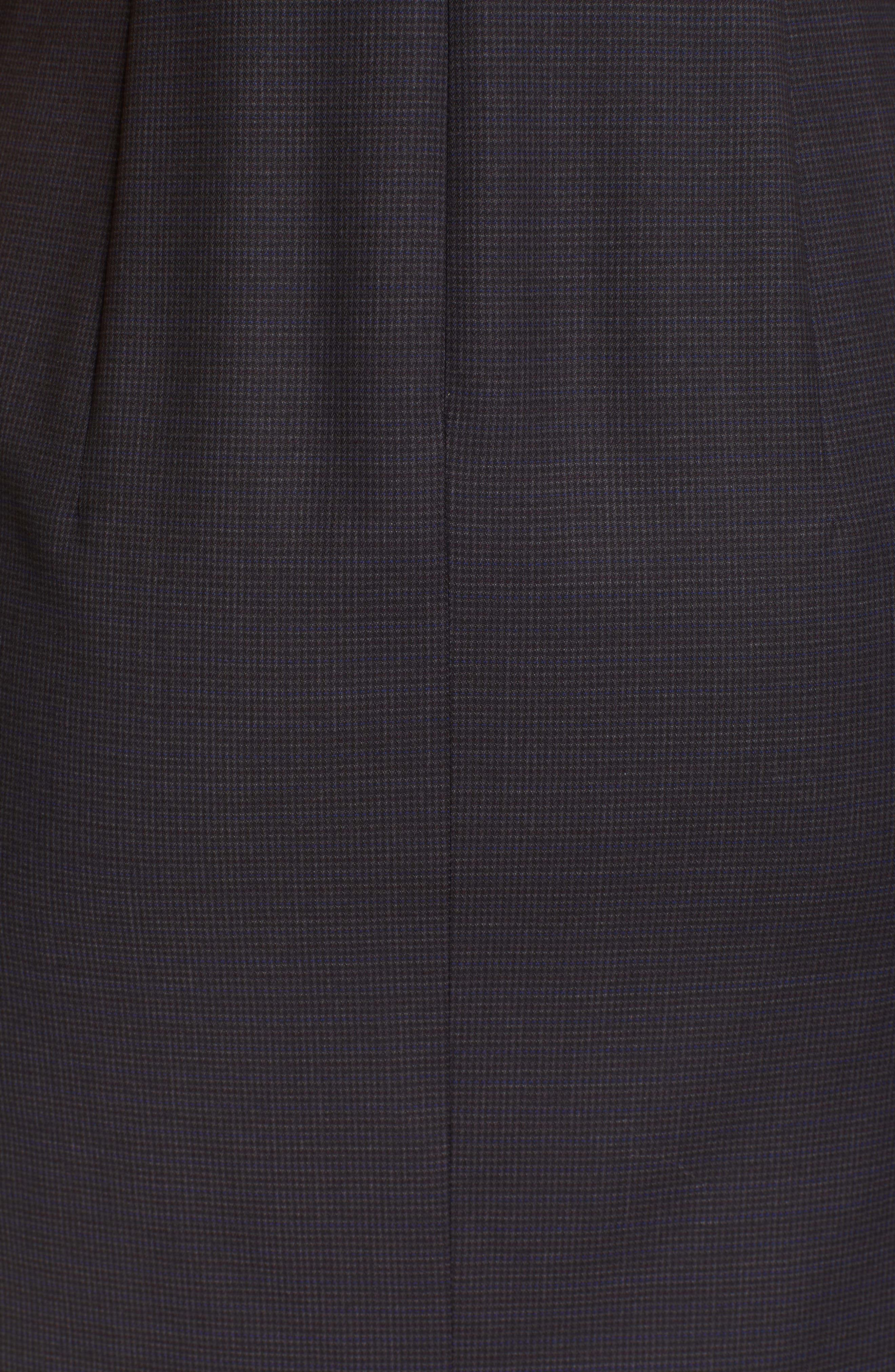 BOSS,                             Dalissa Pepita Wool Dress,                             Alternate thumbnail 6, color,                             BLACK FANTASY