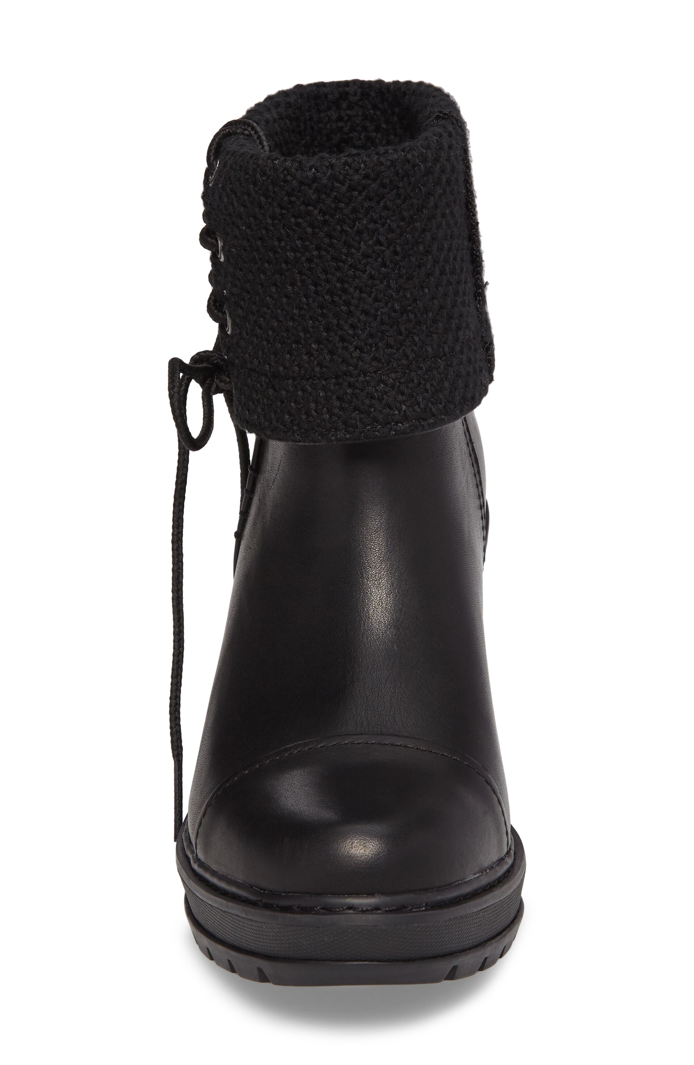 Kellis Fold Down Water Resistant Boot,                             Alternate thumbnail 4, color,                             001