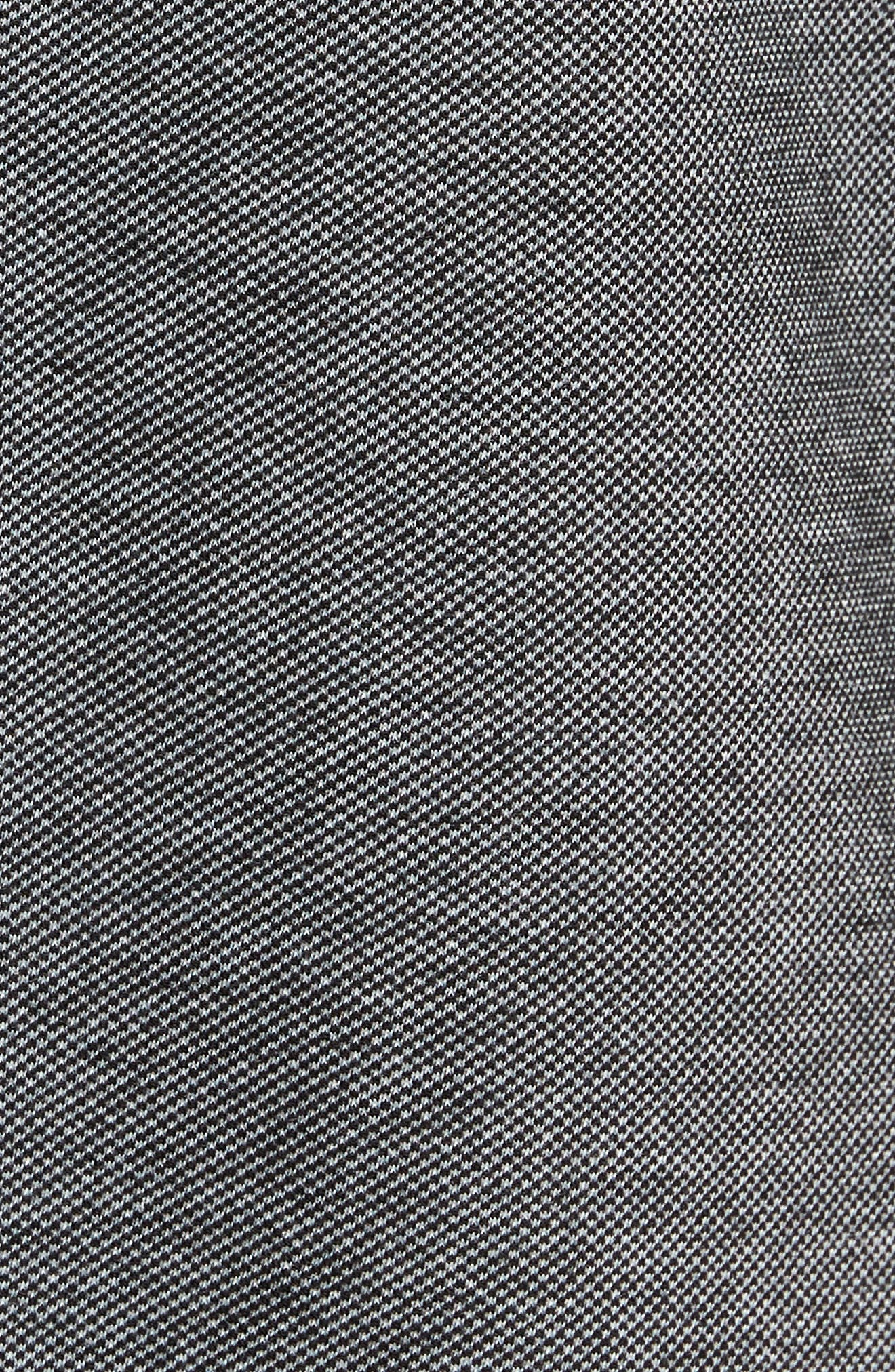 Trim Micro Jacquard Polo Shirt,                             Alternate thumbnail 5, color,                             001