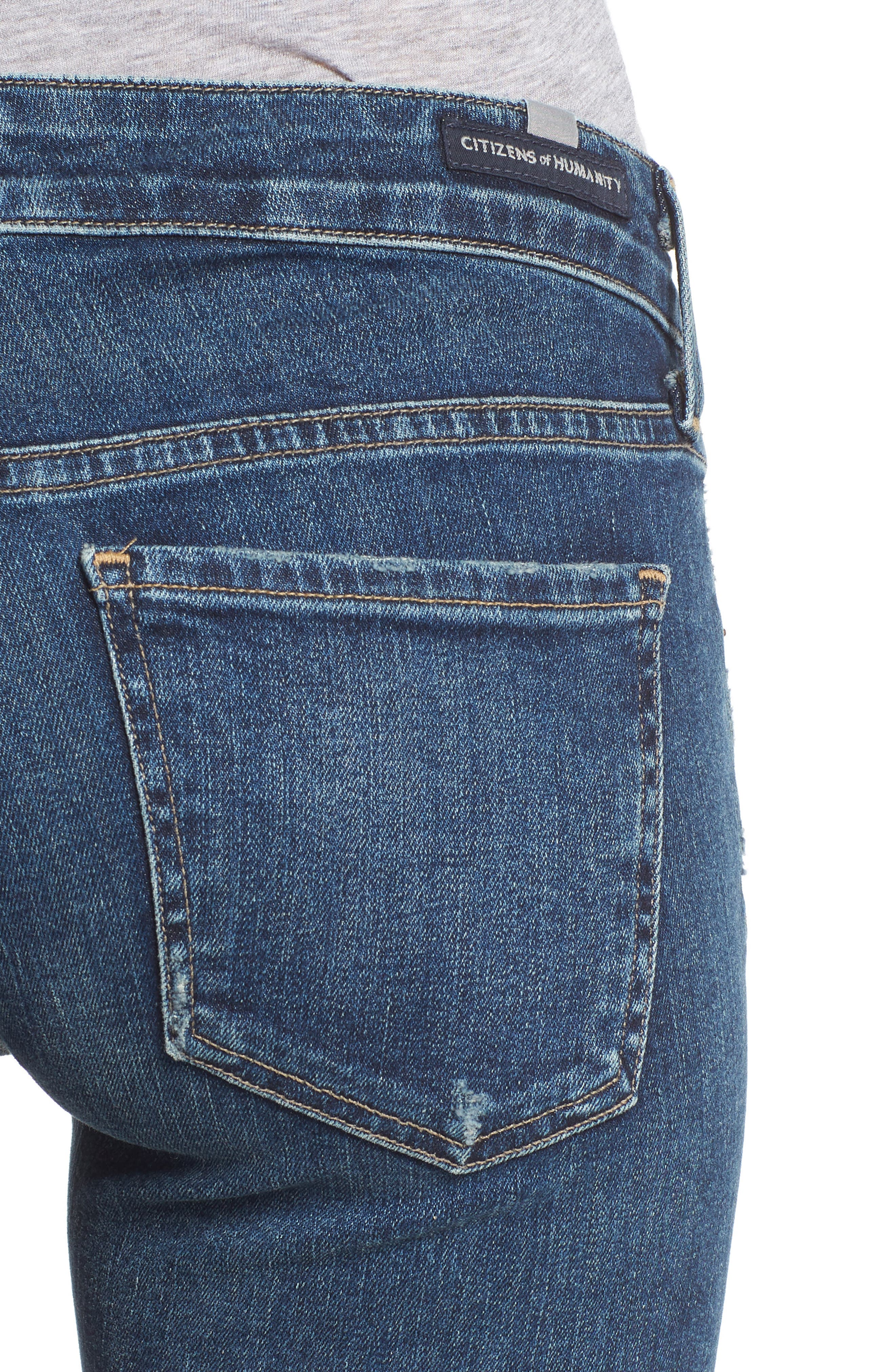CITIZENS OF HUMANITY,                             Racer Slim Jeans,                             Alternate thumbnail 4, color,                             CASPIAN
