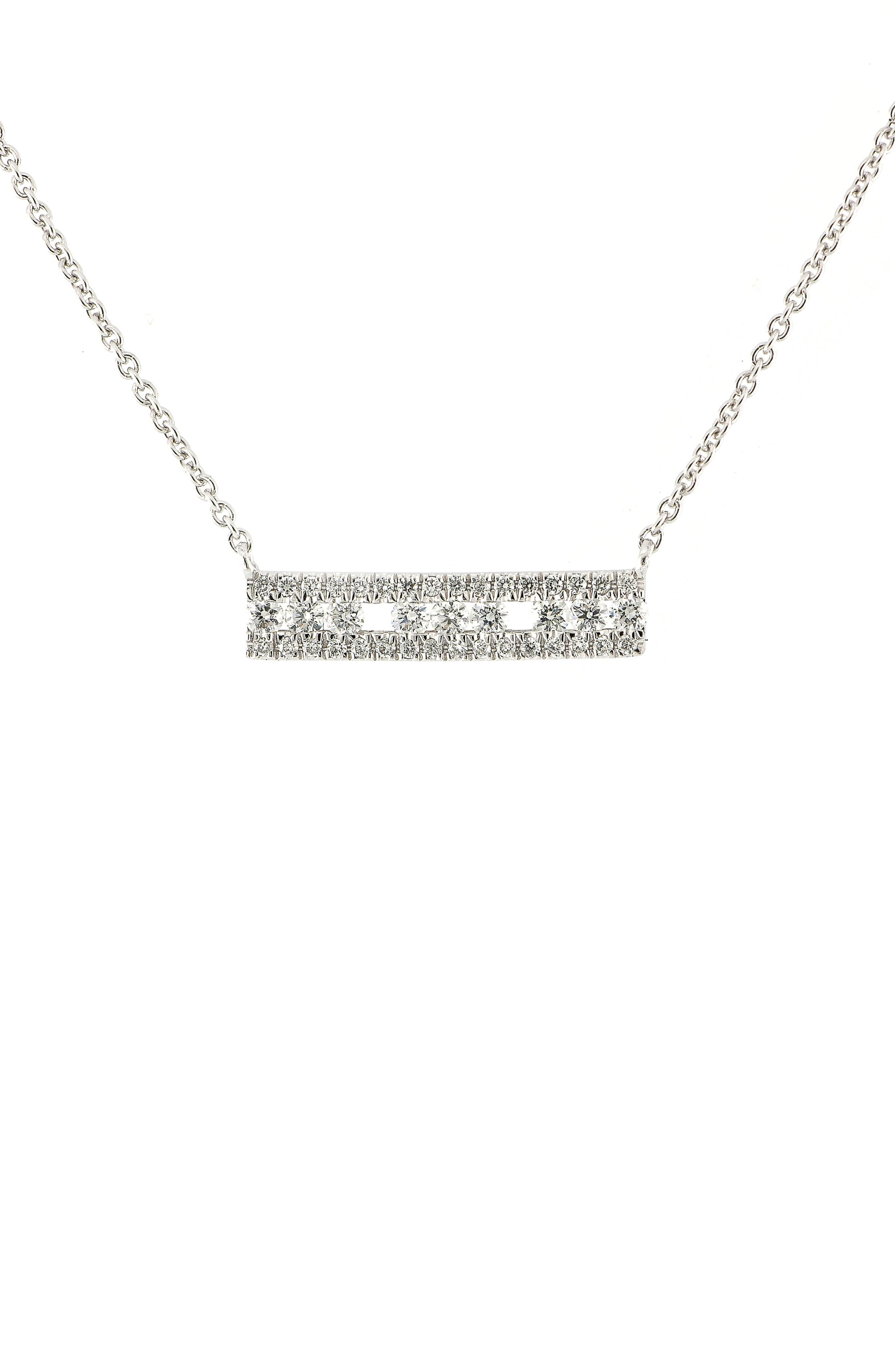 Amara Triple Row Bar Pendant,                             Main thumbnail 1, color,                             WHITE GOLD