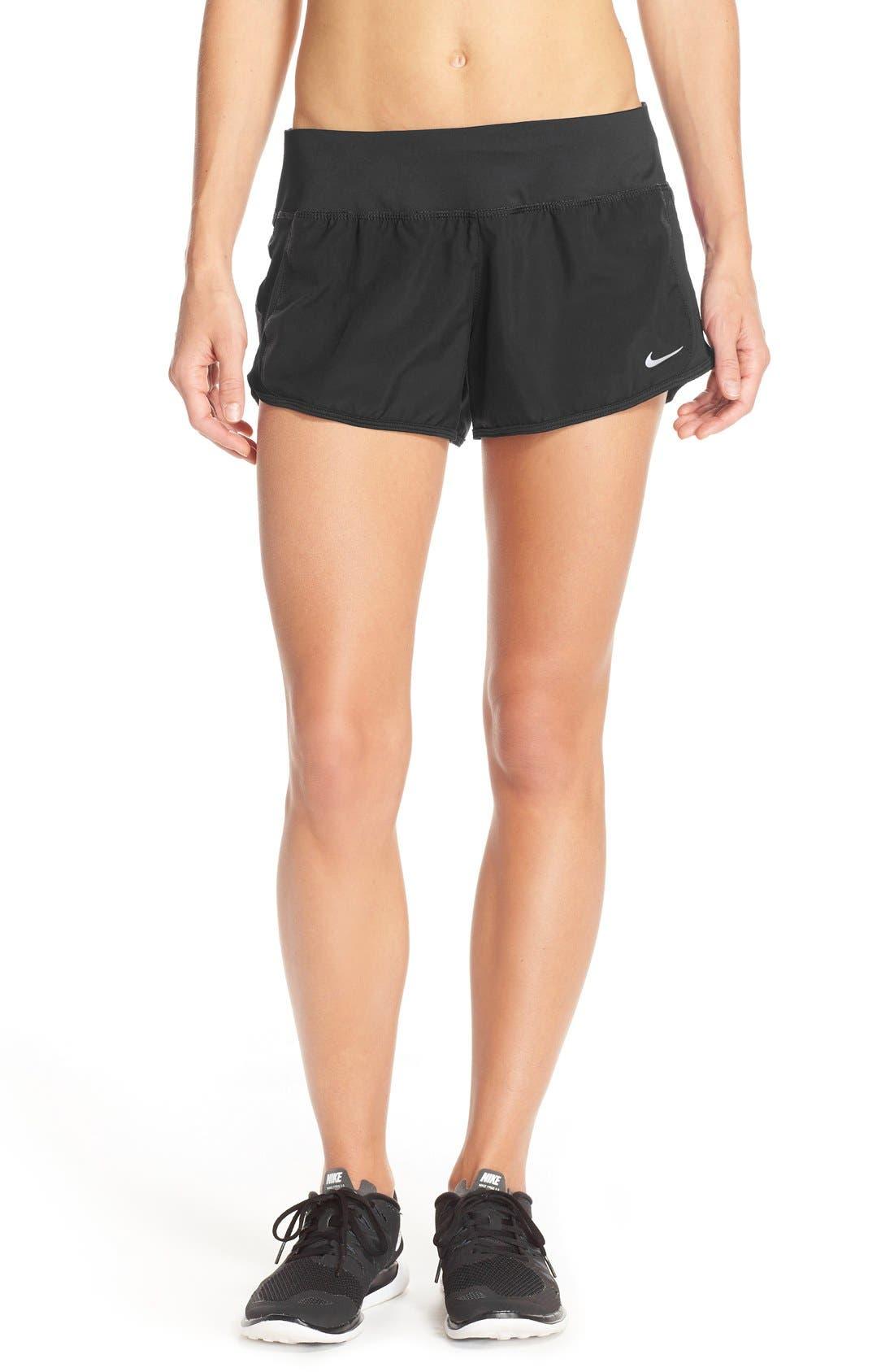 NIKE 'Crew' Dri-FIT Running Shorts, Main, color, 001