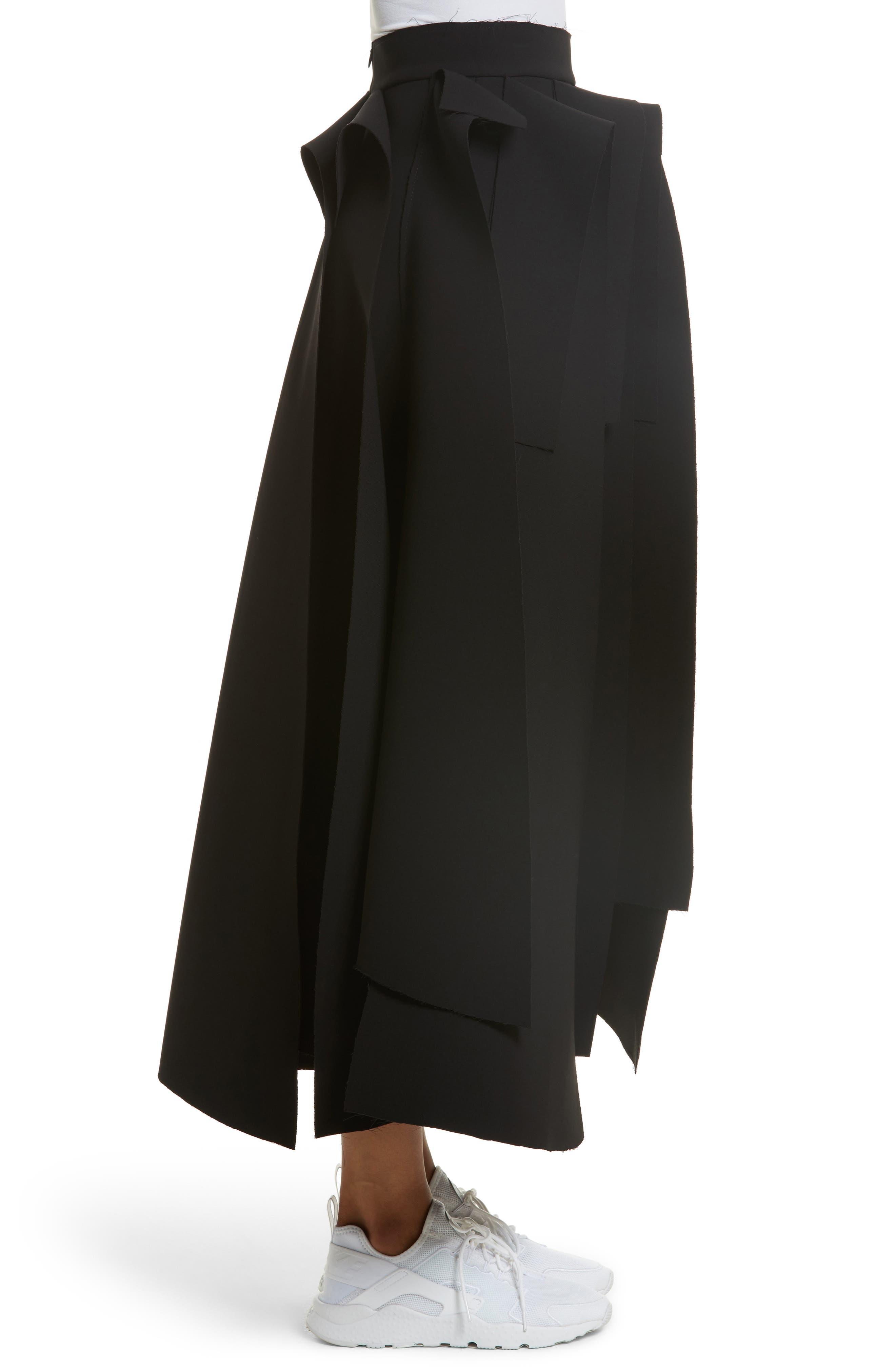 Asymmetric Panel Skirt,                             Alternate thumbnail 3, color,