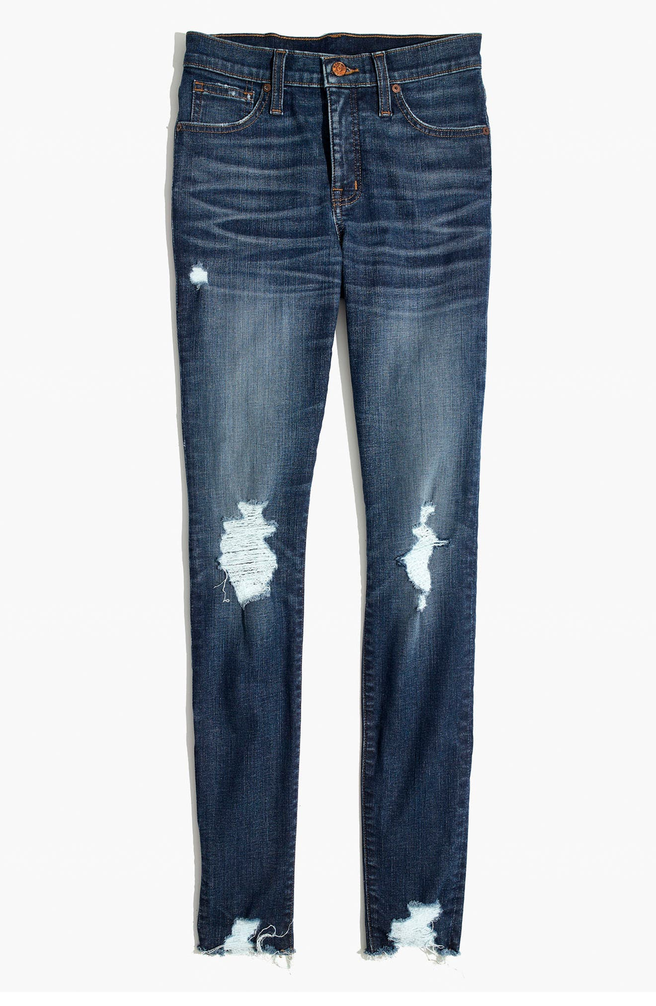 9-Inch High Waist Skinny Jeans,                             Alternate thumbnail 3, color,                             403