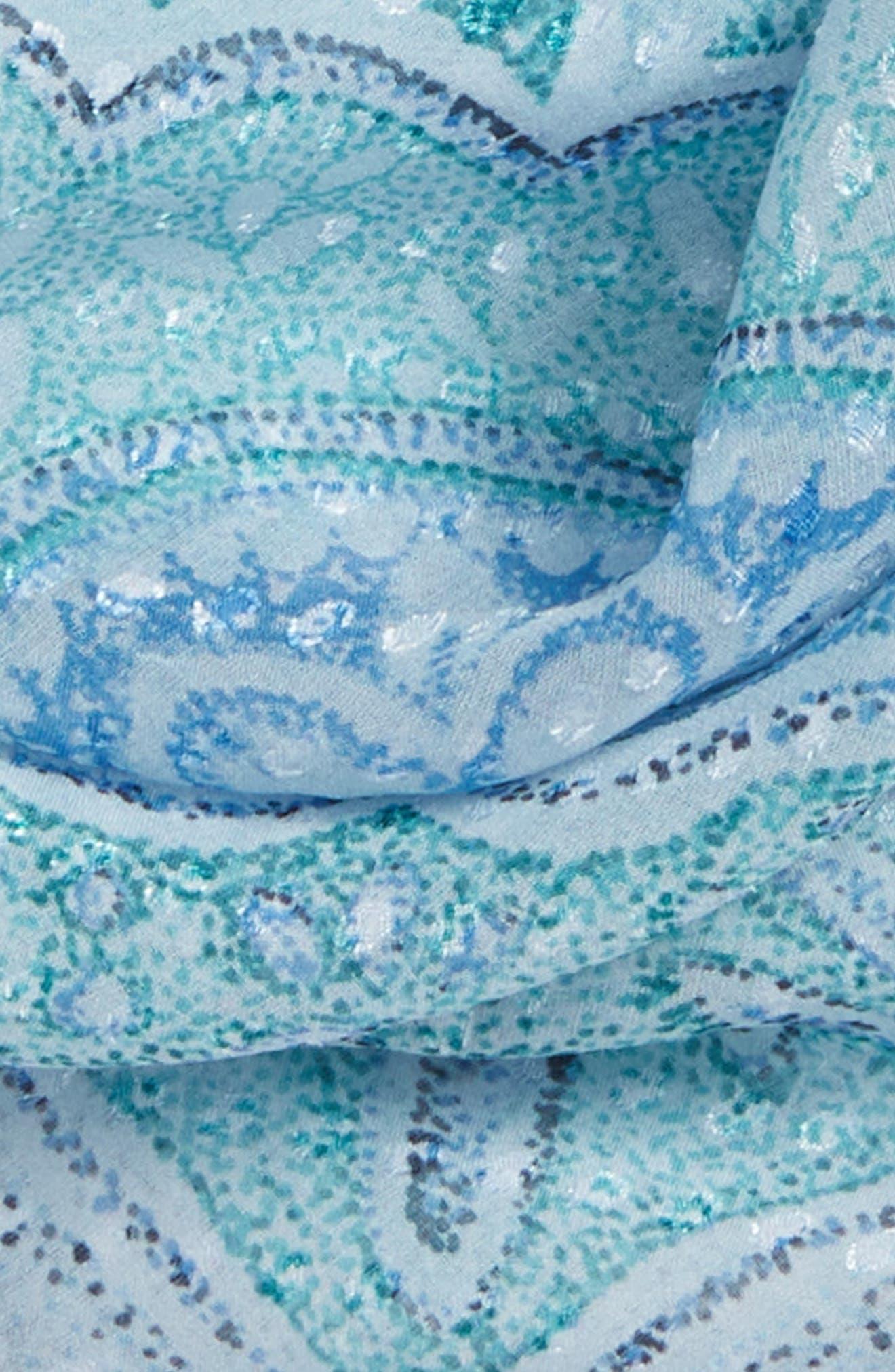 Jacquard Dot Silk Blend Scarf,                             Alternate thumbnail 14, color,
