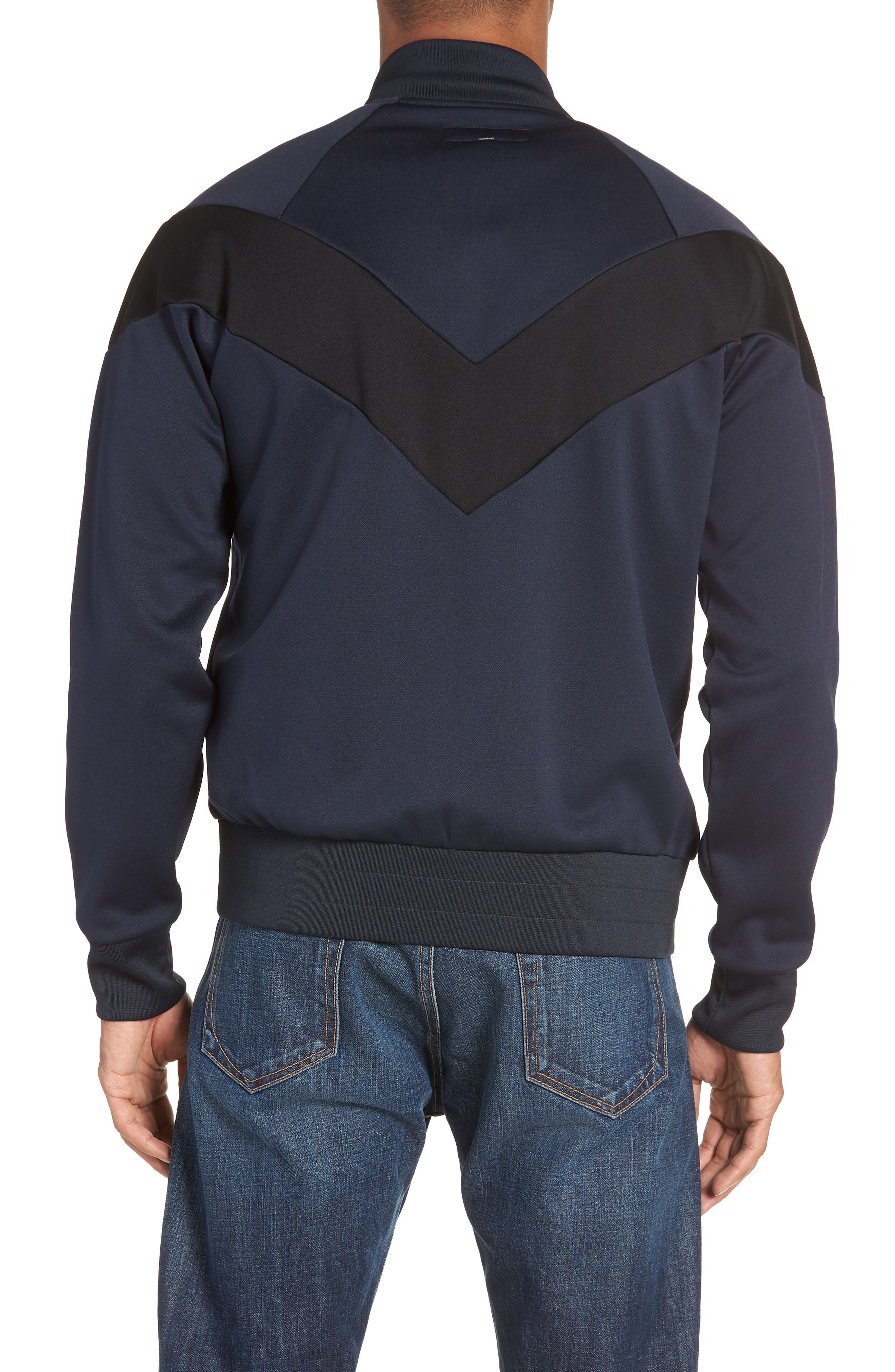 Colorblock Slim Fit Bomber Jacket,                             Alternate thumbnail 2, color,                             NAVY/ BLACK