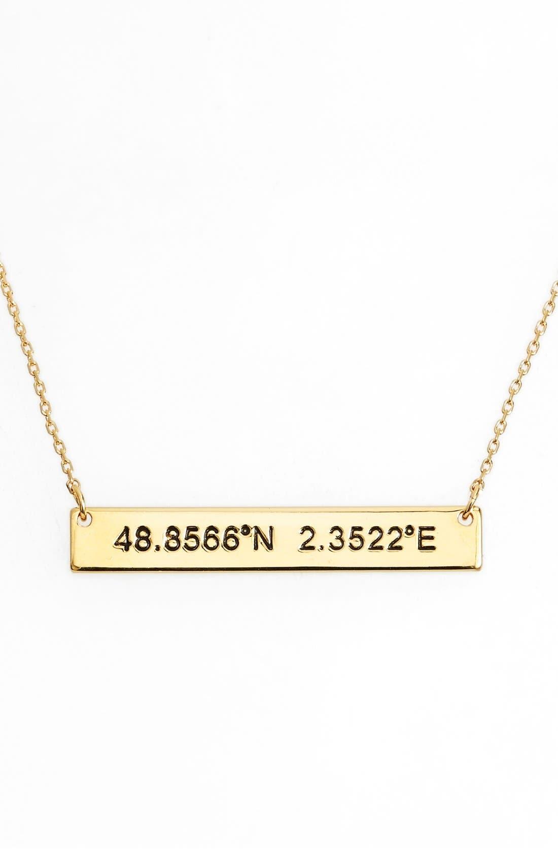 Coordinate Bar Pendant Necklace,                             Main thumbnail 3, color,