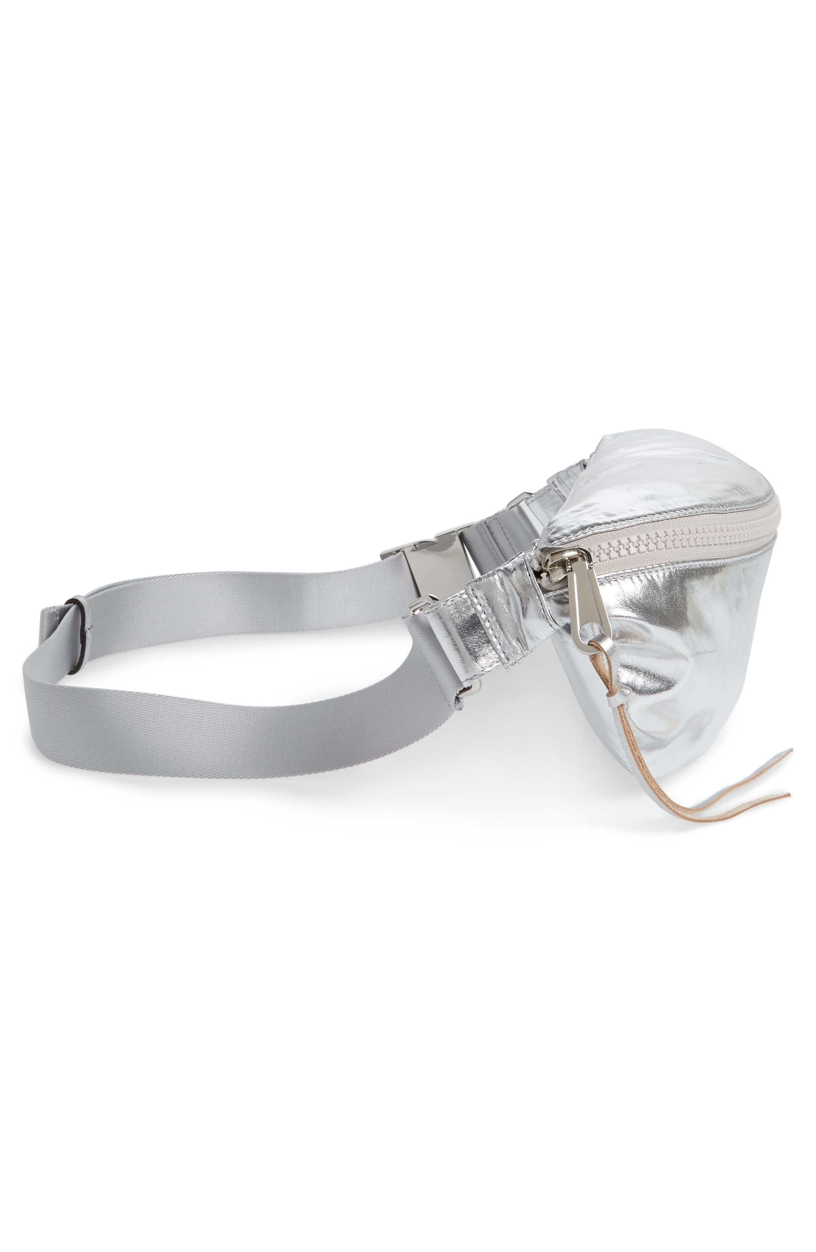 Nylon Belt Bag,                             Alternate thumbnail 6, color,                             SILVER