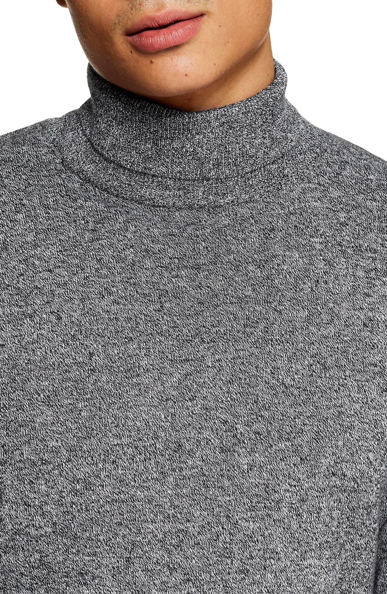 Classic Fit Turtleneck Sweater,                             Alternate thumbnail 3, color,                             020