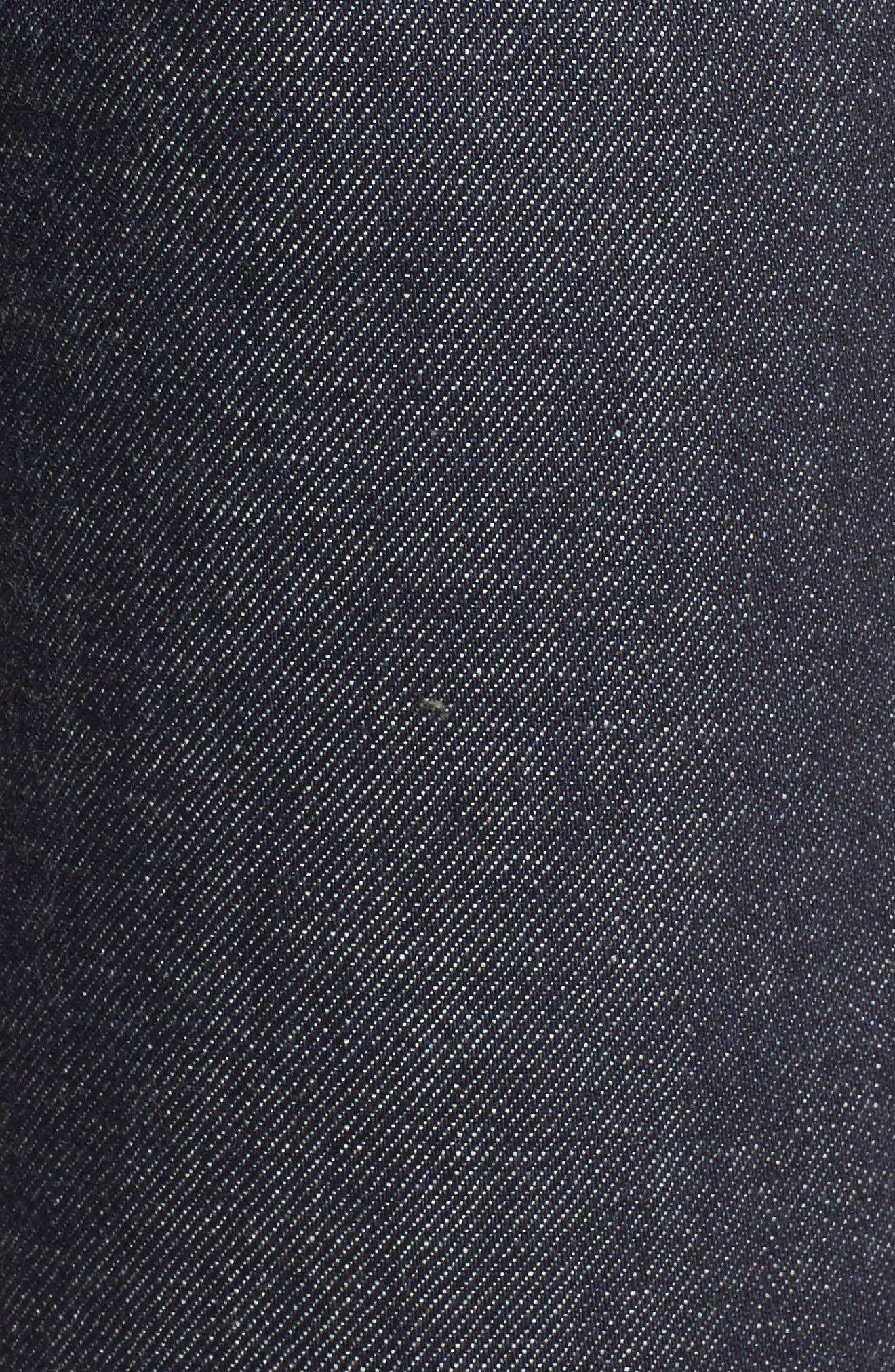 High Waist Standard Selvedge Jeans,                             Alternate thumbnail 5, color,                             468