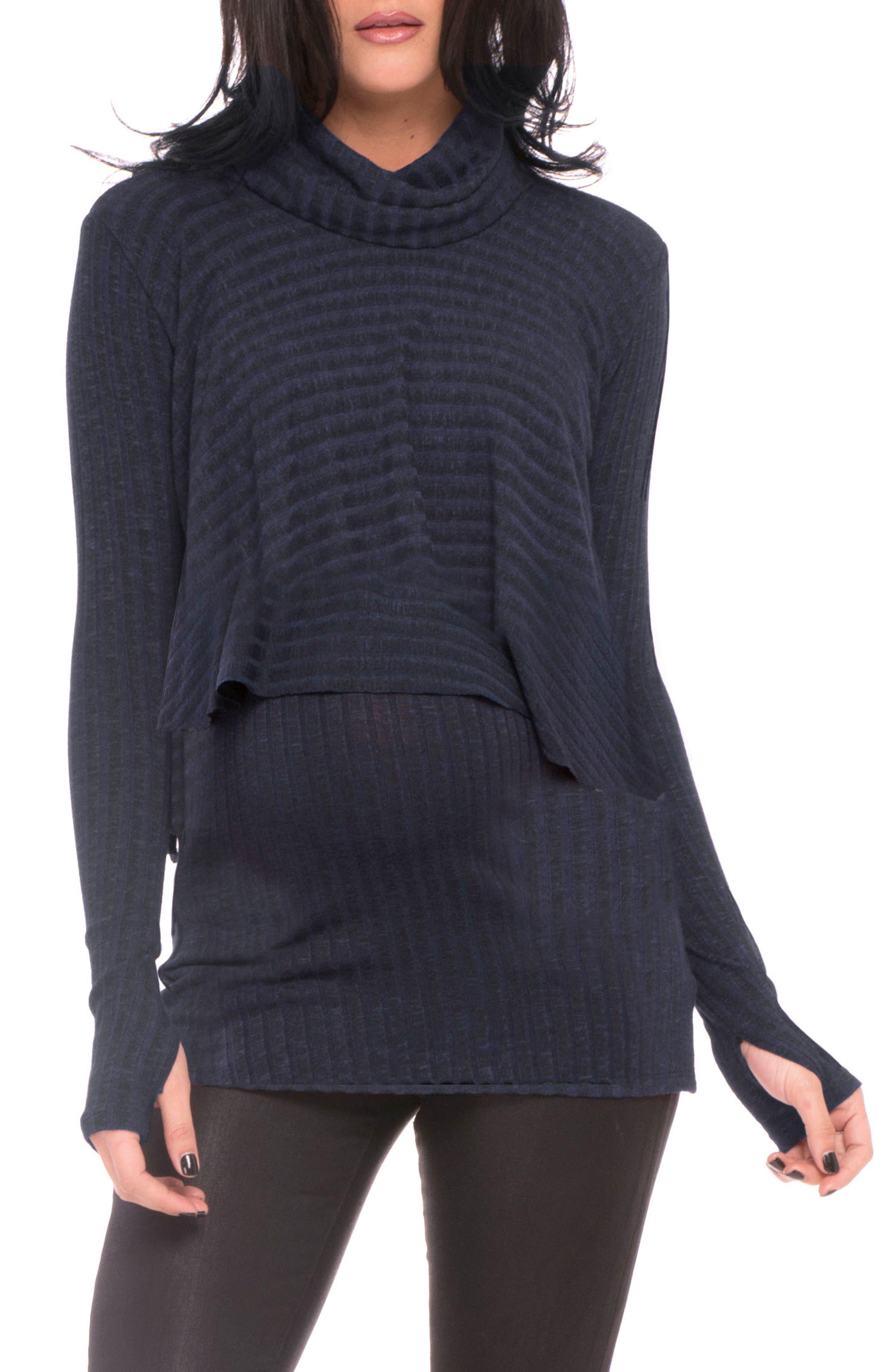 Kim Popver Maternity/Nursing Tunic Top,                         Main,                         color, 417