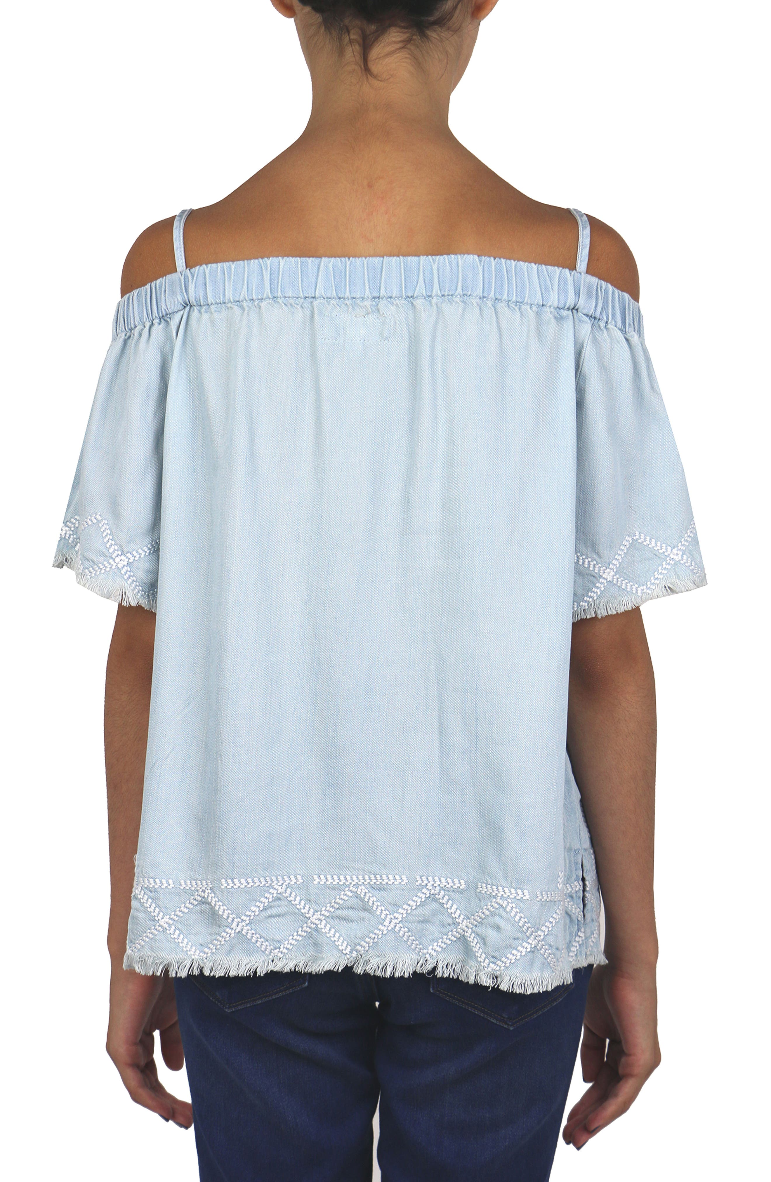 Embroidered Peasant Top,                             Alternate thumbnail 2, color,                             461