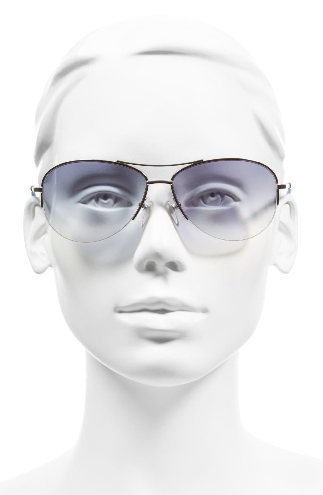 59mm Semi Rimless Sunglasses,                             Alternate thumbnail 2, color,                             PALLADIUM