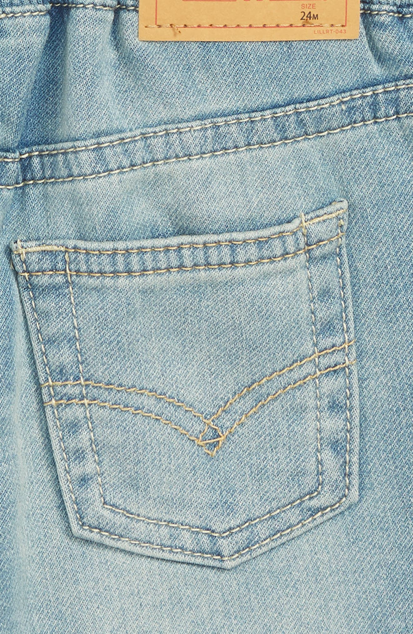 Knit Denim Shorts,                             Alternate thumbnail 3, color,                             424