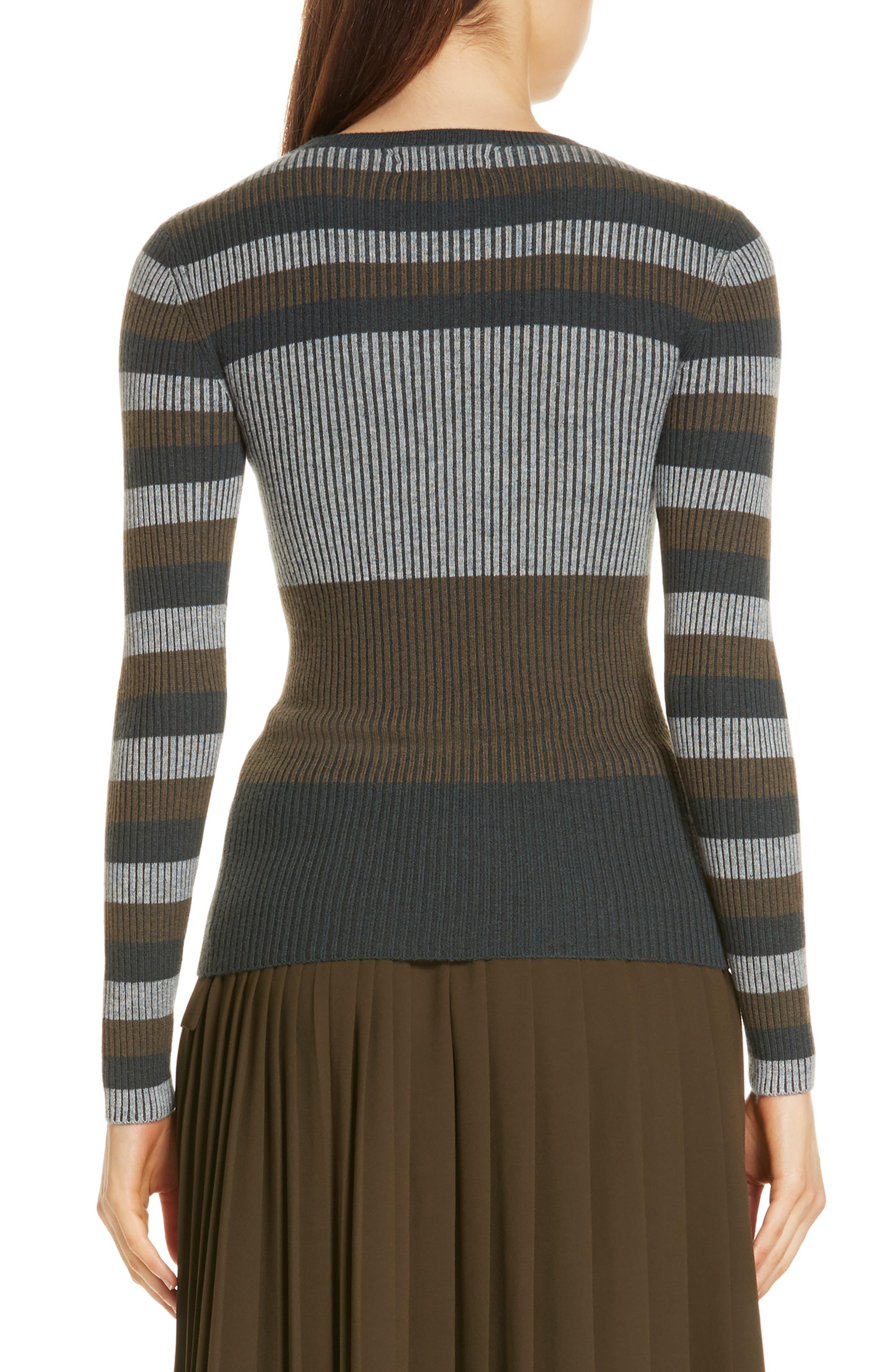 NORDSTROM SIGNATURE,                             Stripe Cashmere Sweater,                             Alternate thumbnail 2, color,                             315