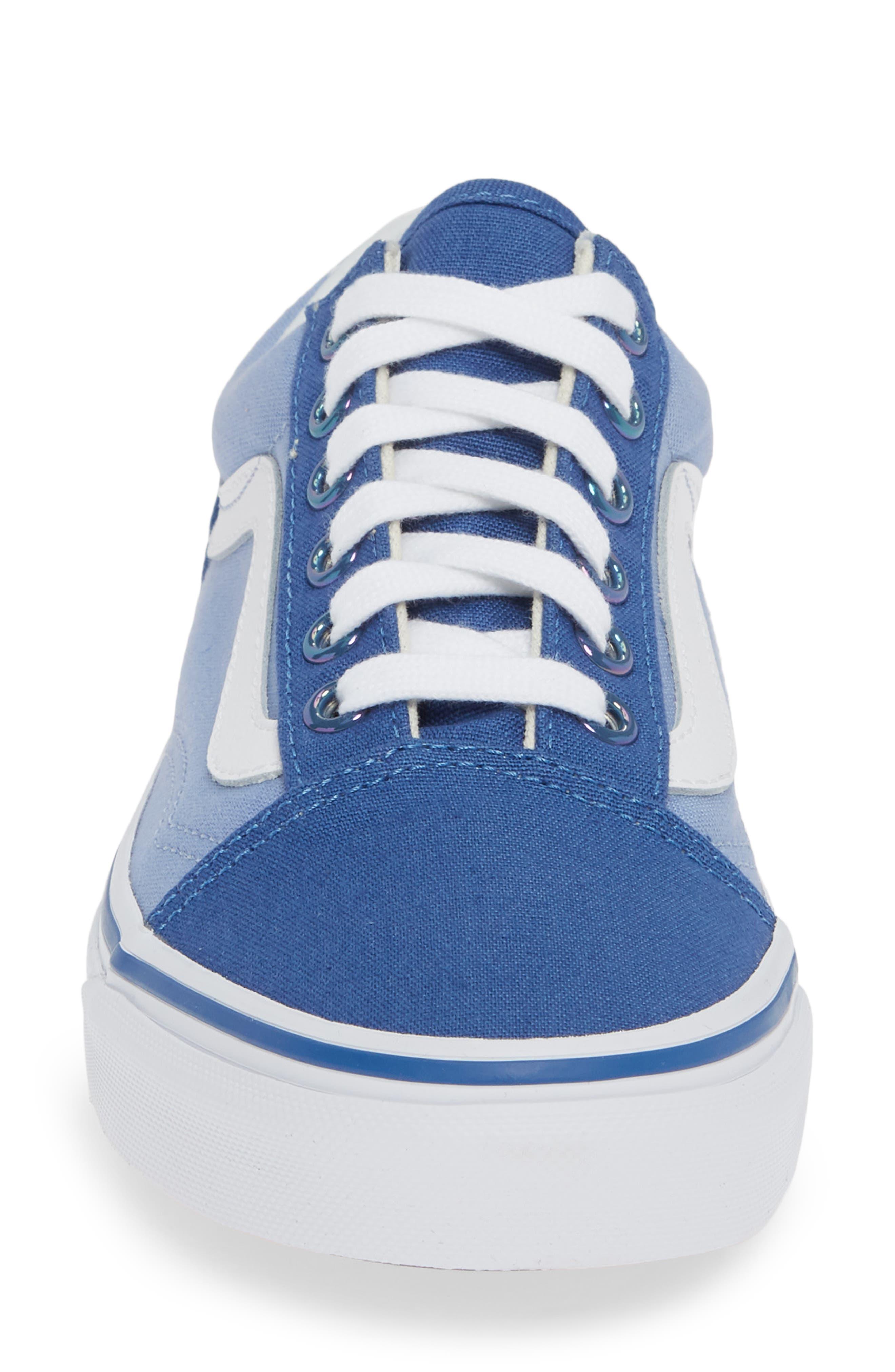 Old Skool Sneaker,                             Alternate thumbnail 4, color,                             FEDERAL BLUE/ LAVENDER LUSTER