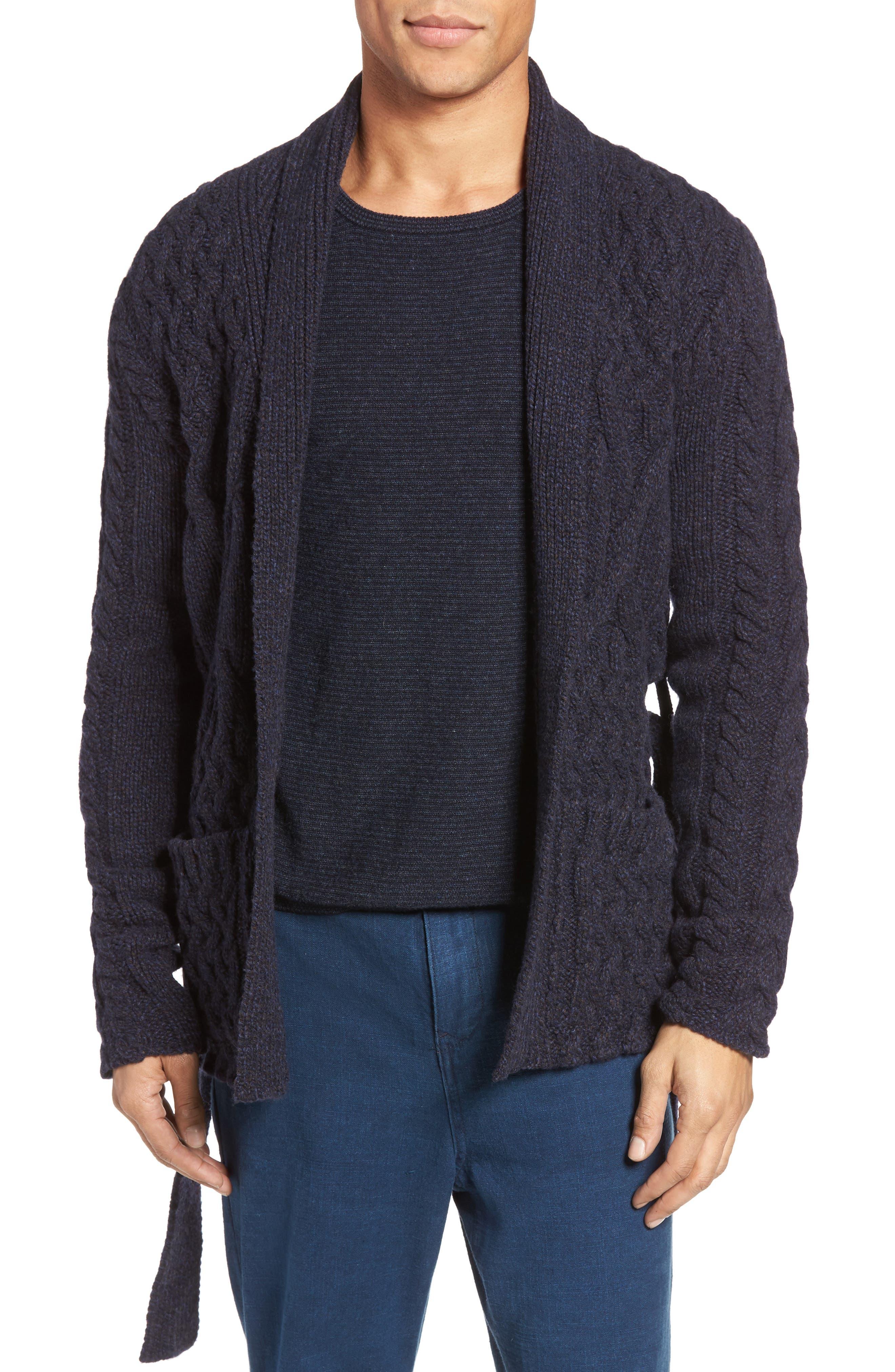 EIDOS,                             Napoli Cable Knit Wool Cardigan,                             Main thumbnail 1, color,                             405