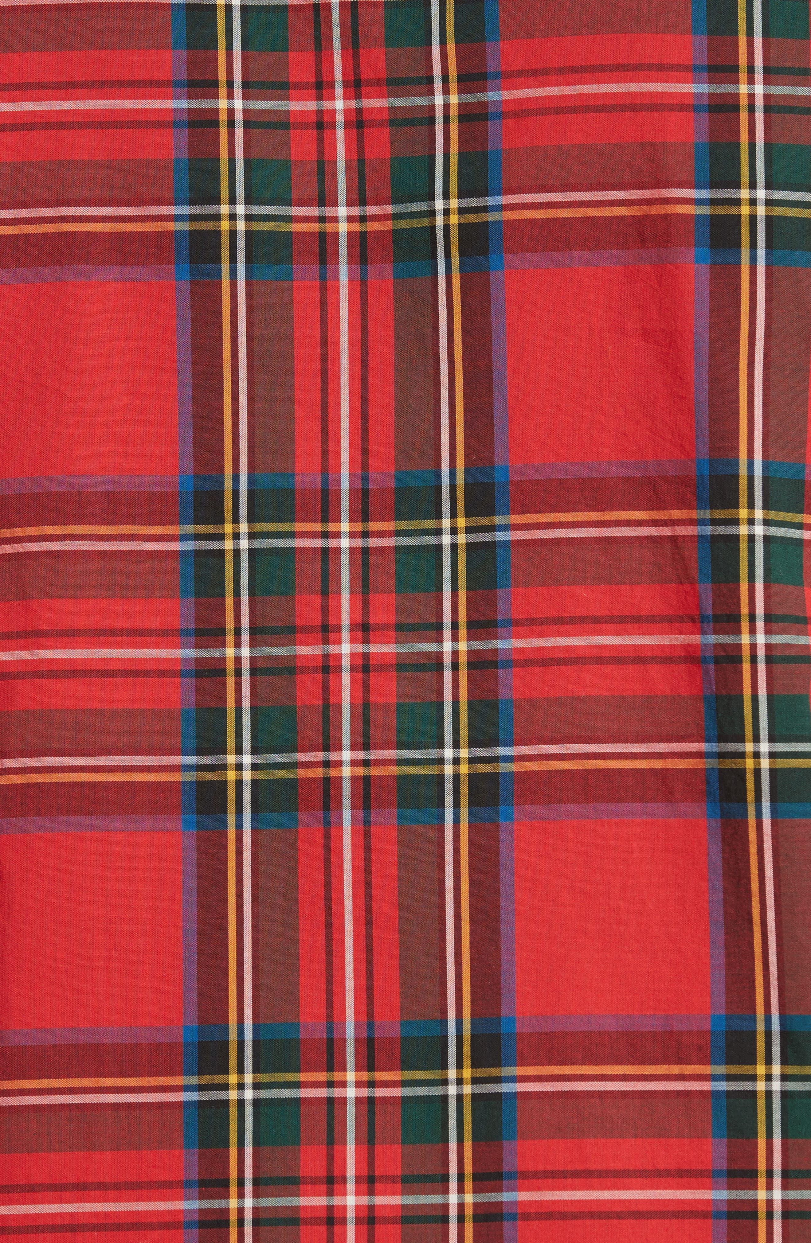 Salwick Plaid Sport Shirt,                             Alternate thumbnail 5, color,                             622