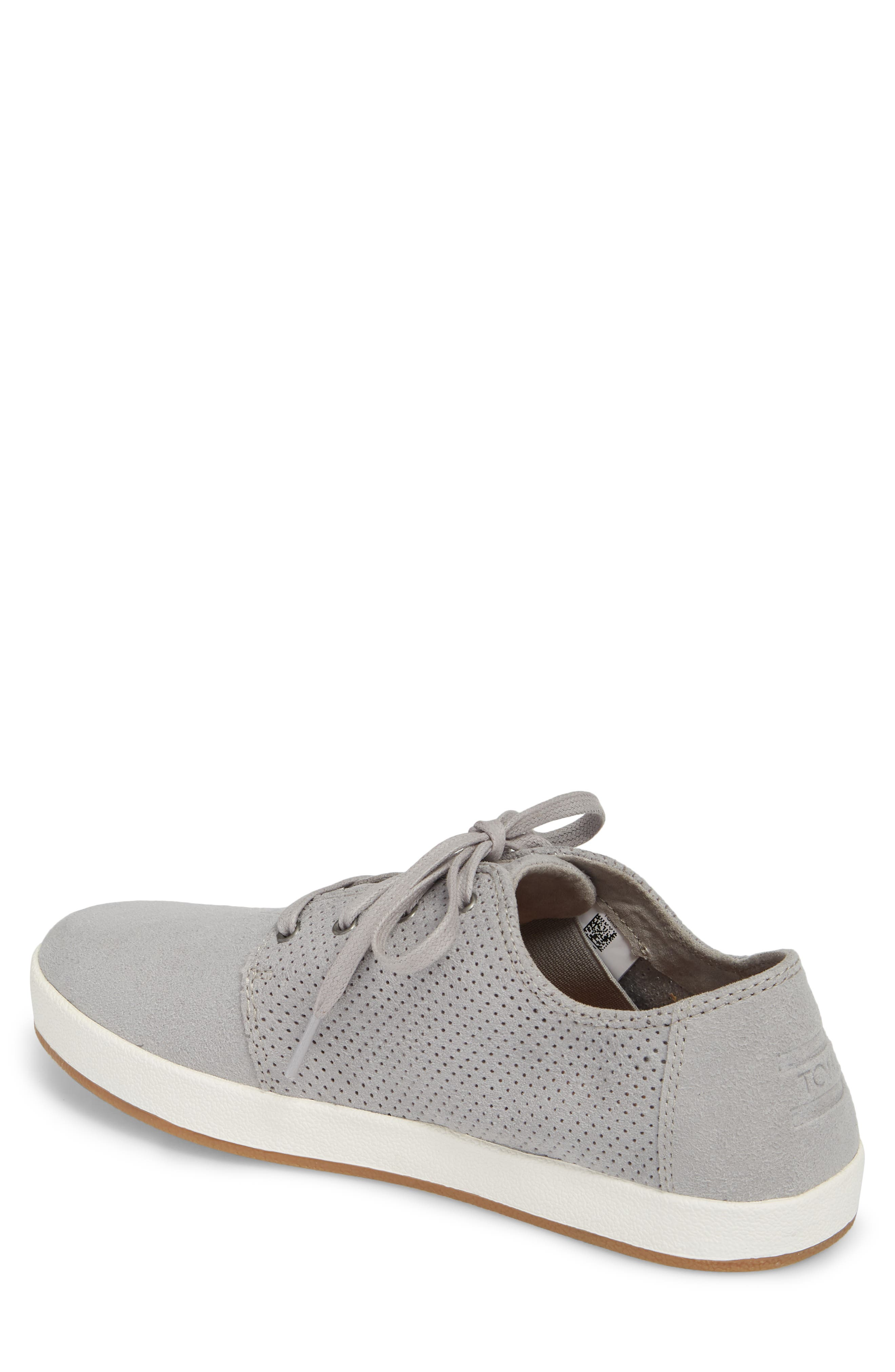 Payton Perforated Sneaker,                             Alternate thumbnail 2, color,                             DRIZZLE GREY PERFORATED