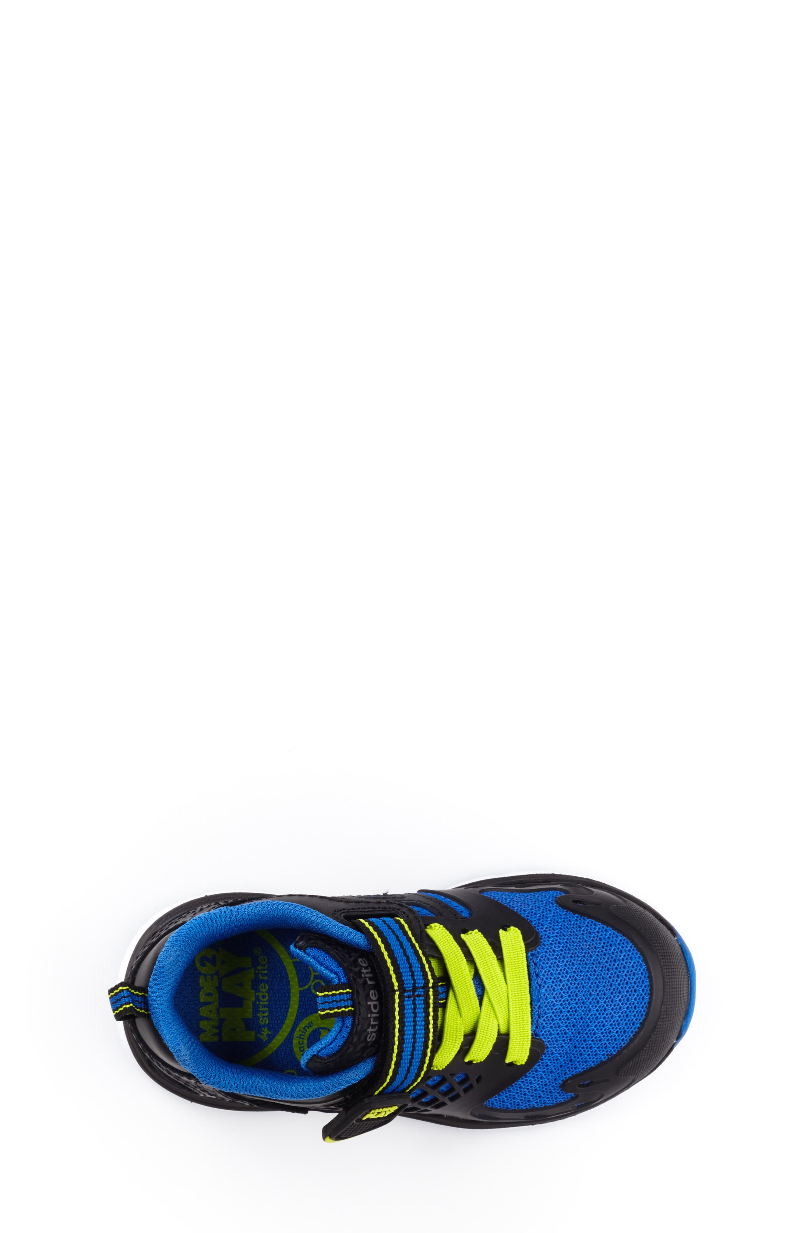 Made 2 Play Breccen Sneaker,                             Alternate thumbnail 4, color,                             BLACK/ LIME