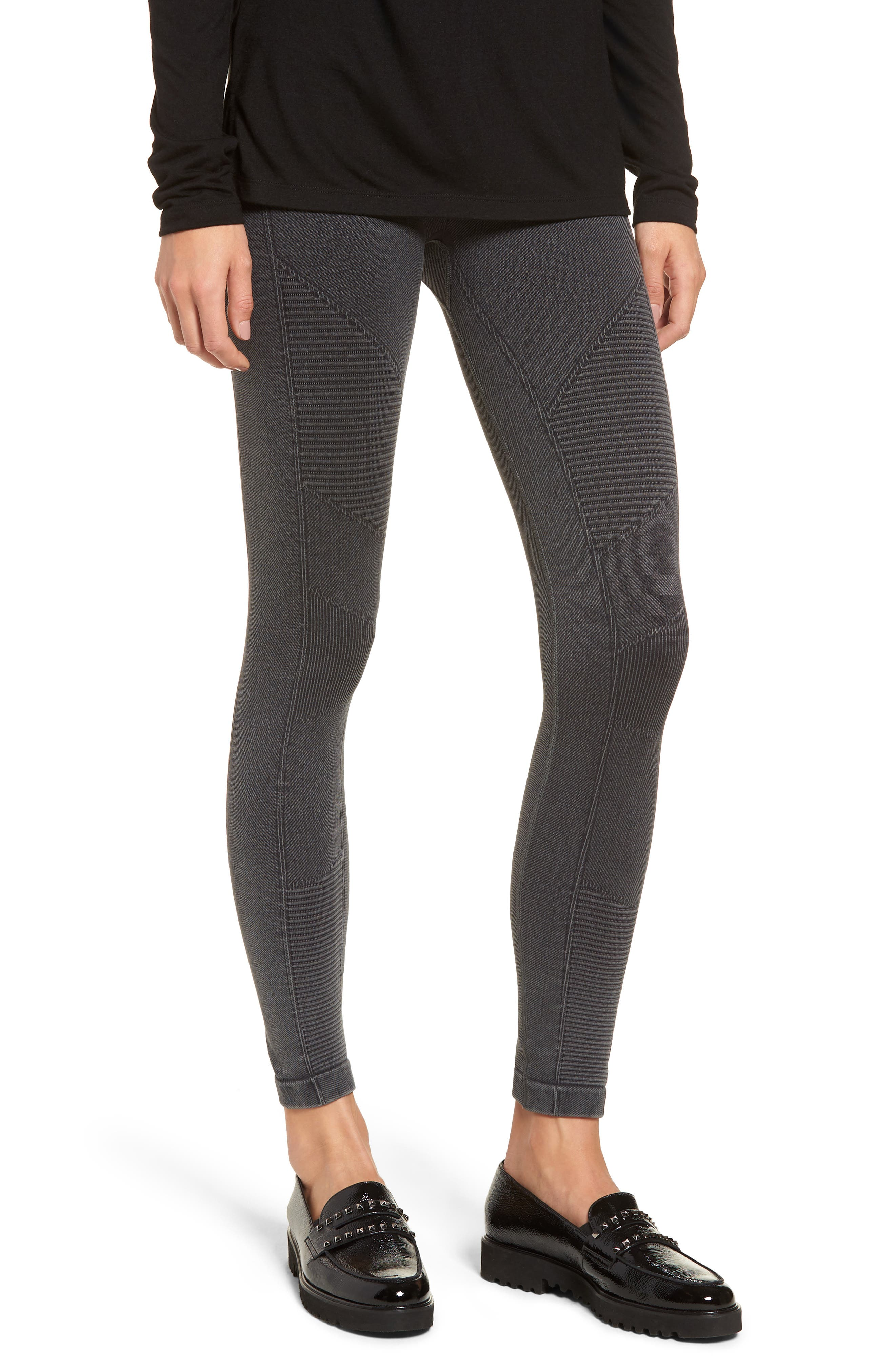 Washed Moto Seamless Skimmer Leggings,                         Main,                         color, 001